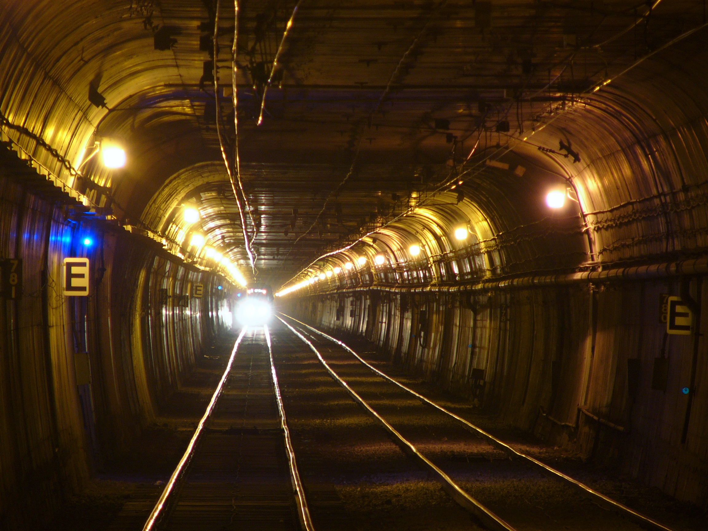Built as a streetcar tunnel in 1918, the Twin Peaks MUNI Tunnel runs beneath the hills, linking downtown San Francisco with West Portal and the southwestern part of the city.
