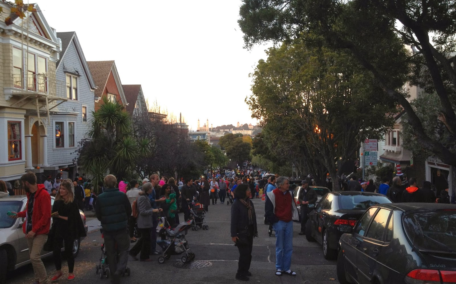 Halloween is a festive occasion every year on a strip of Belvedere Street between Parnassus and 17th Streets.