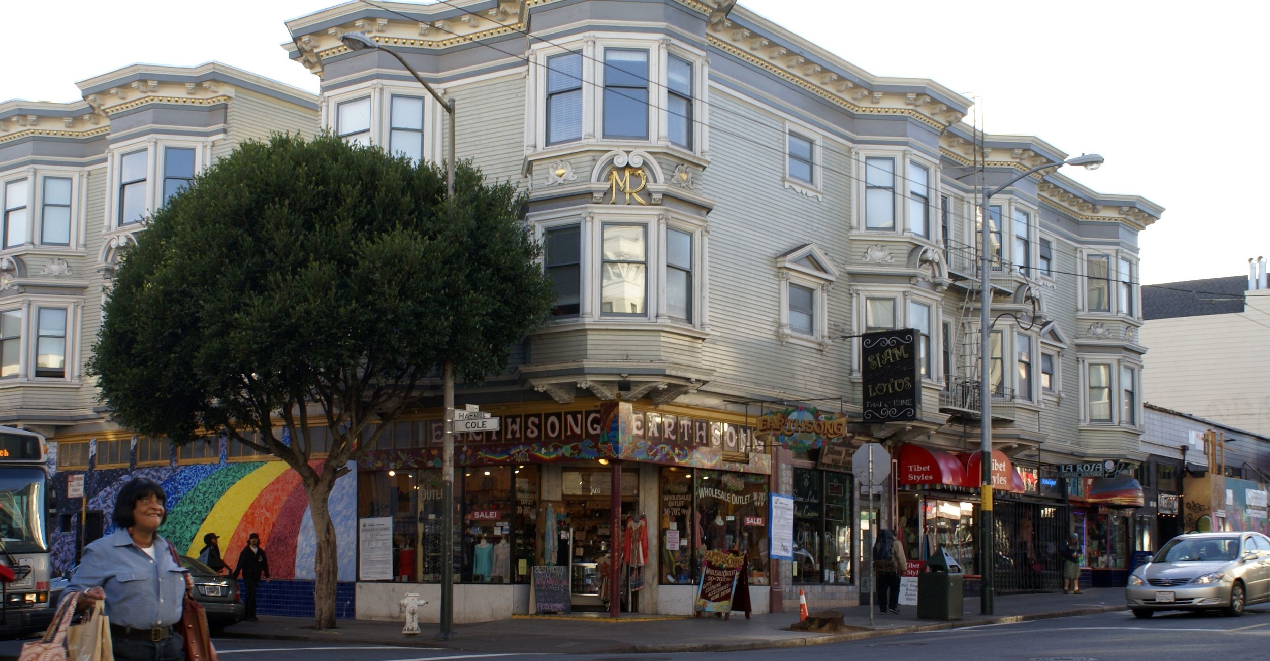 Nearby Haight Street is lined with stores and restaurants reminiscent of its counter-culture past.