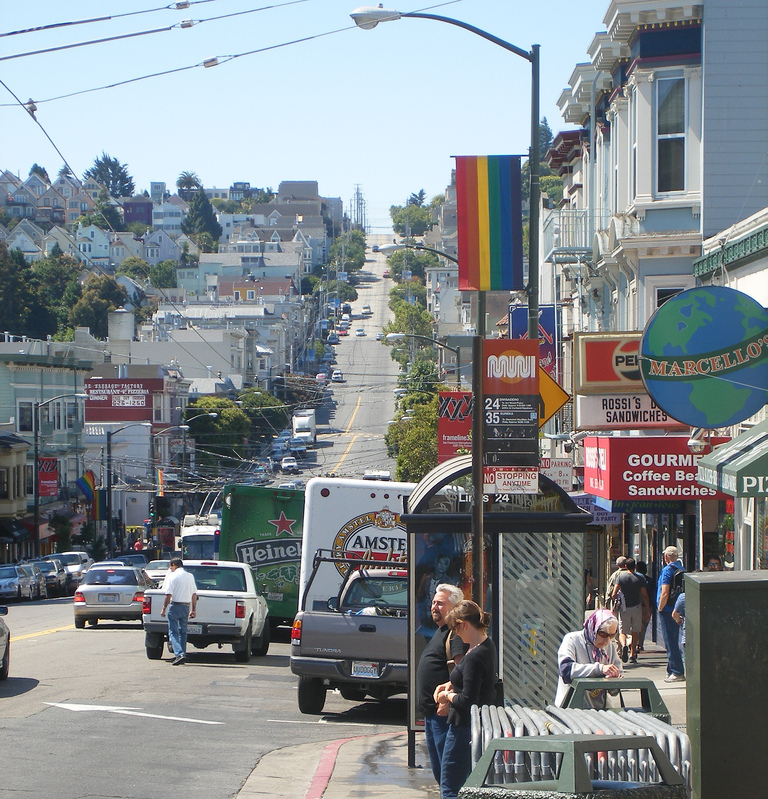 Castro Street is a lively, culturally diverse commercial district offering everything from acclaimed restaurants and bars to neighborhood coffee shops.