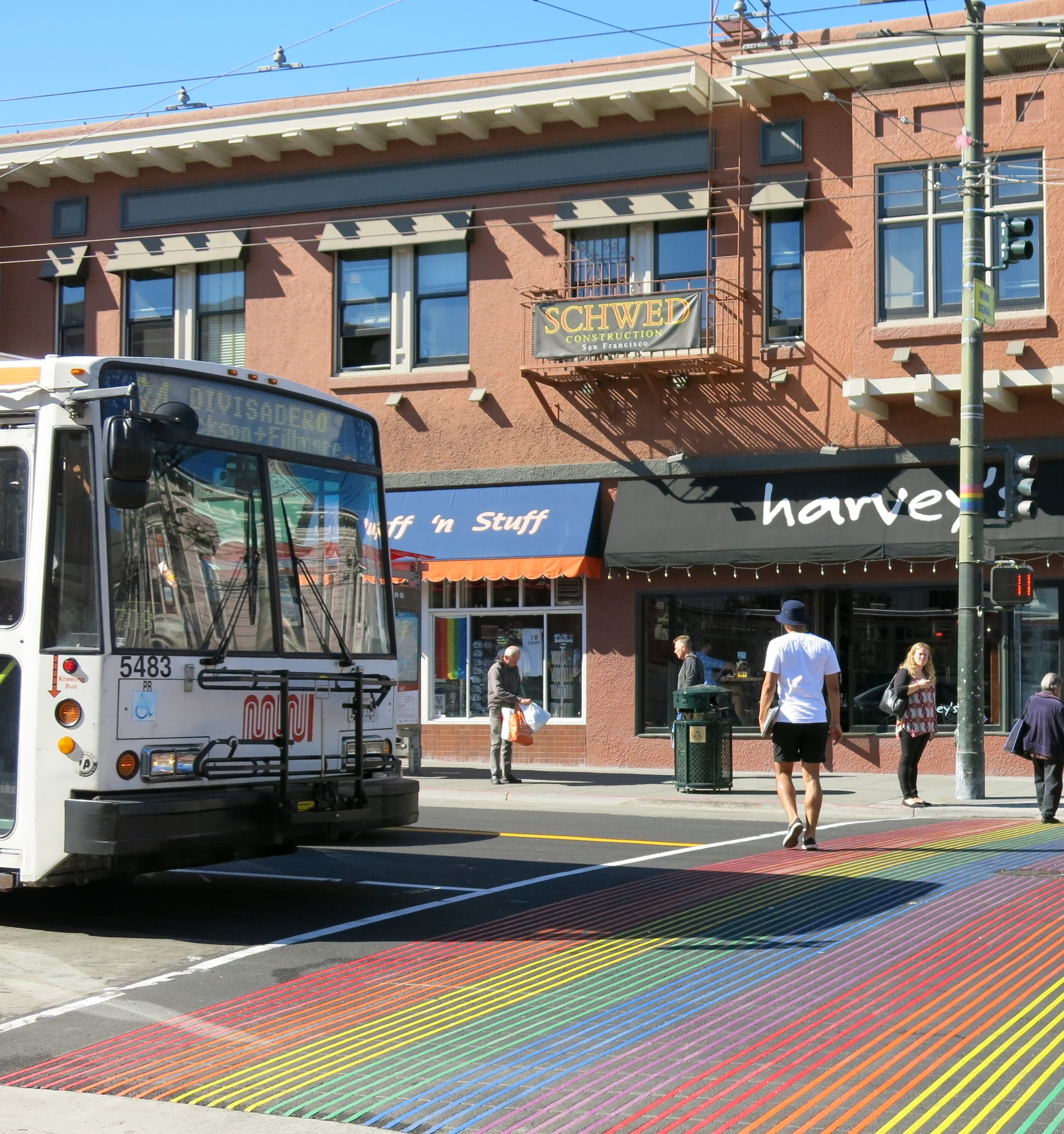 Several MUNI lines run through the neighborhood, while commuters have easy highway access.
