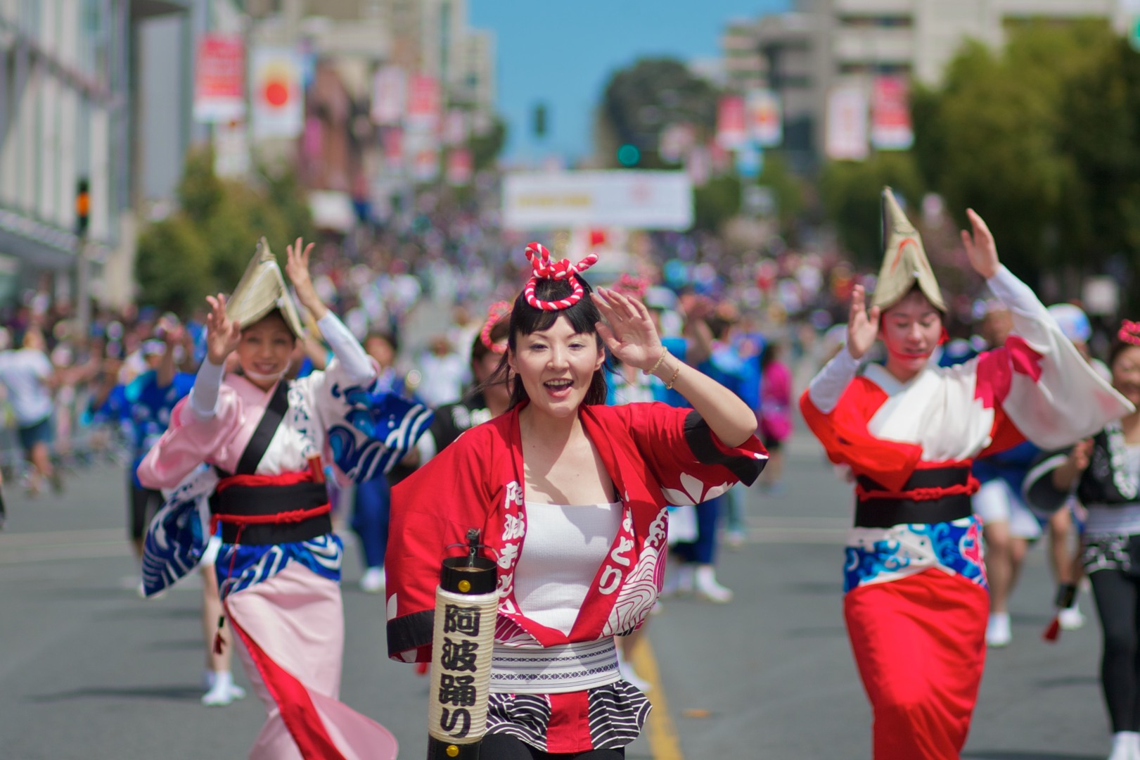 The annual Cherry Blossom Festival is a fun annual event held in Japantown.