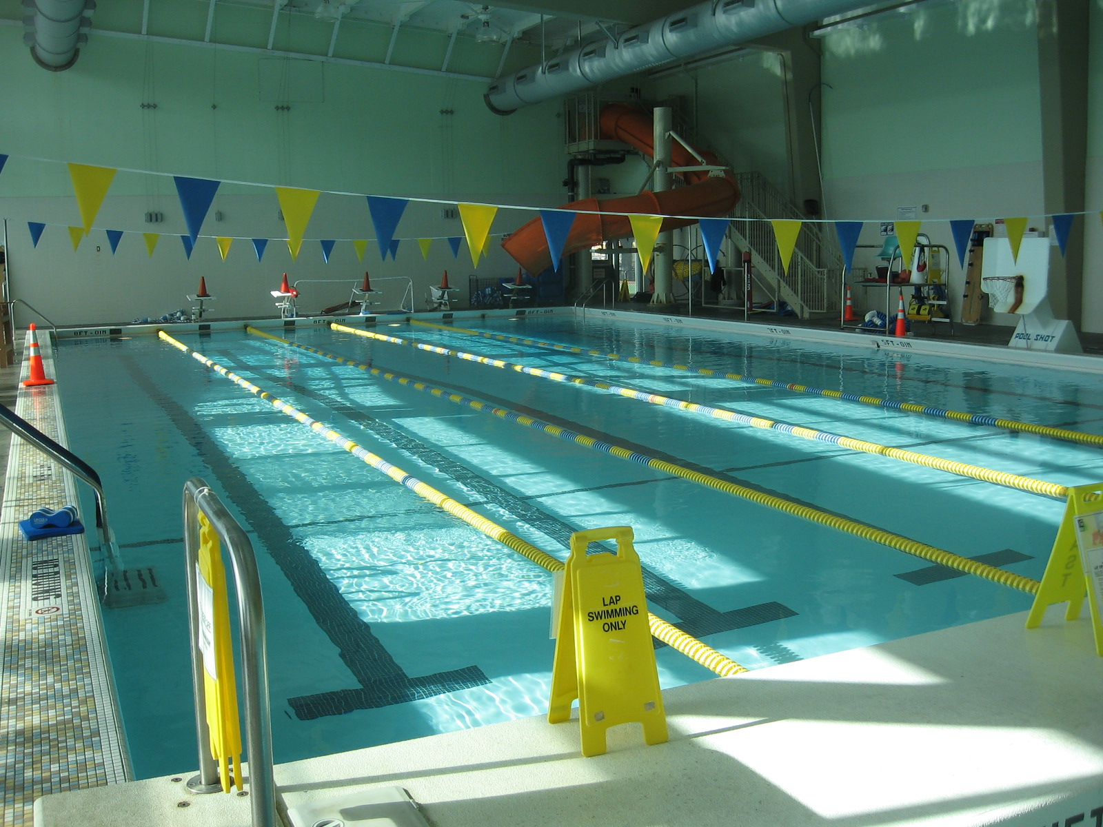 The Hamilton Recreation Center attracts families with its outdoor play structure and popular indoor pool.