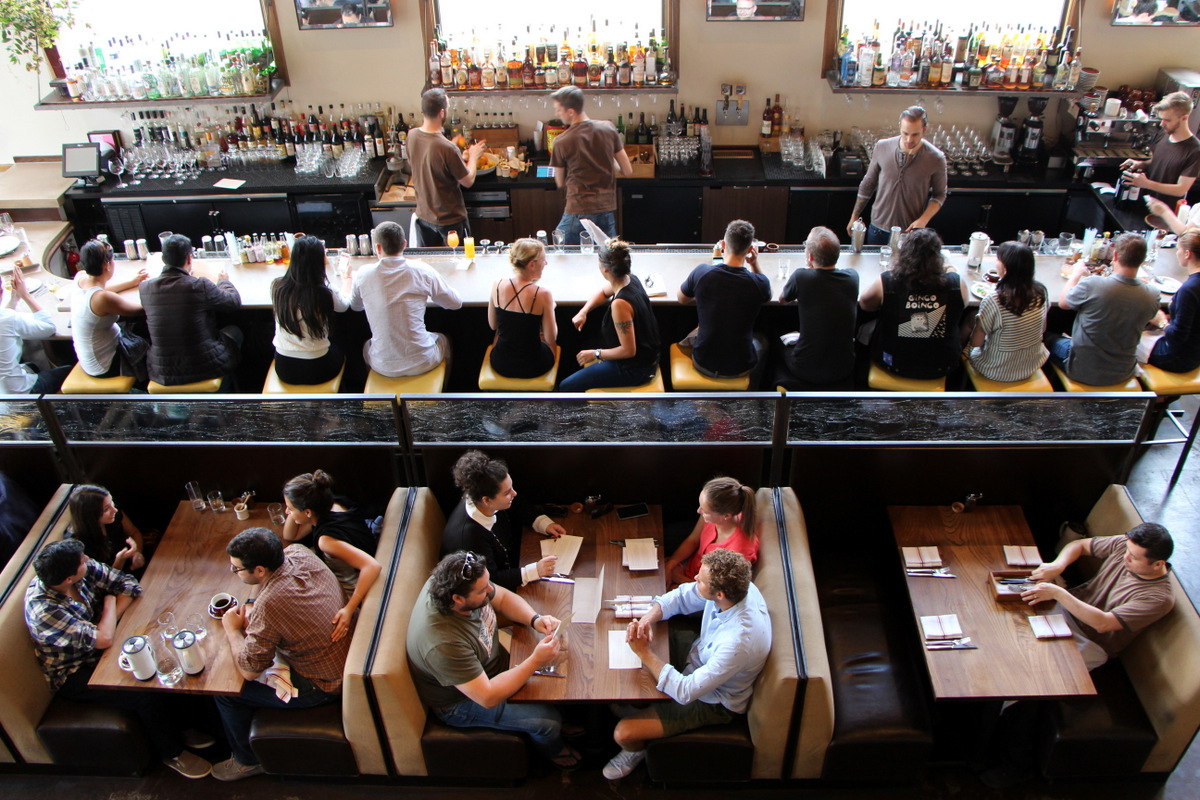 A neighborhood favorite, NOPA is a stylish restaurant named after the neighborhood where it resides.