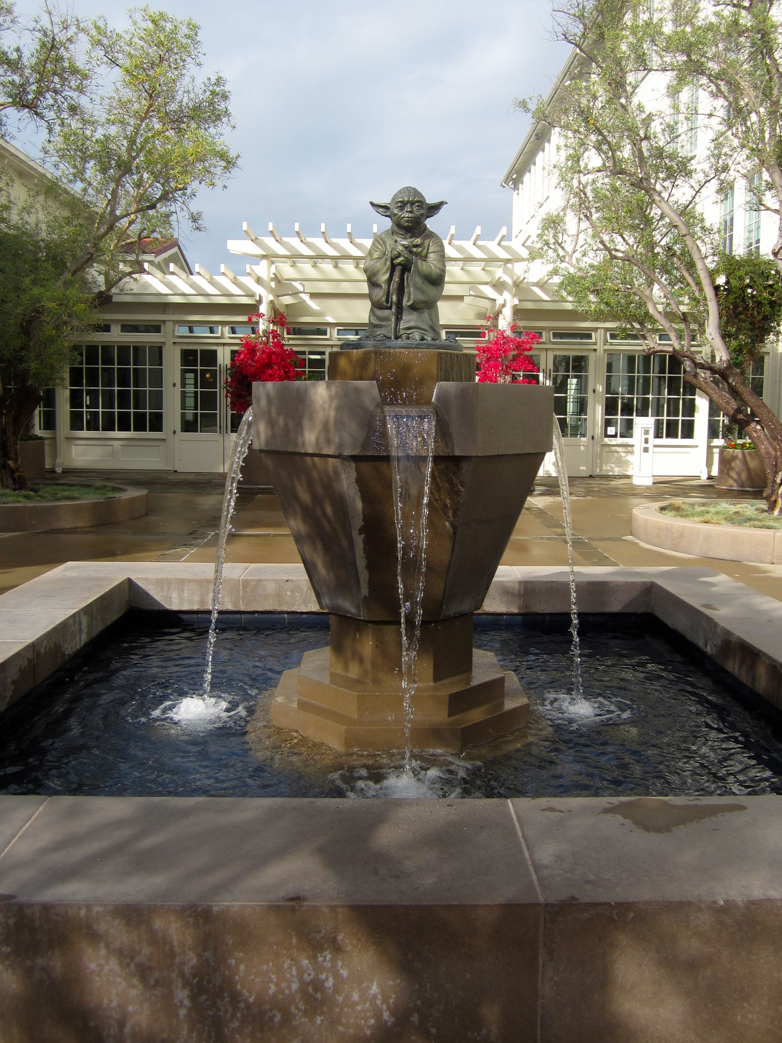 Just inside the Lombard Gate of the Presidio, the Letterman Digital Arts Center is a serene 23-acre campus that serves as the headquarters of Lucasfilm. The property includes a public park and an iconic Yoda fountain at the main entrance to the four-building complex.