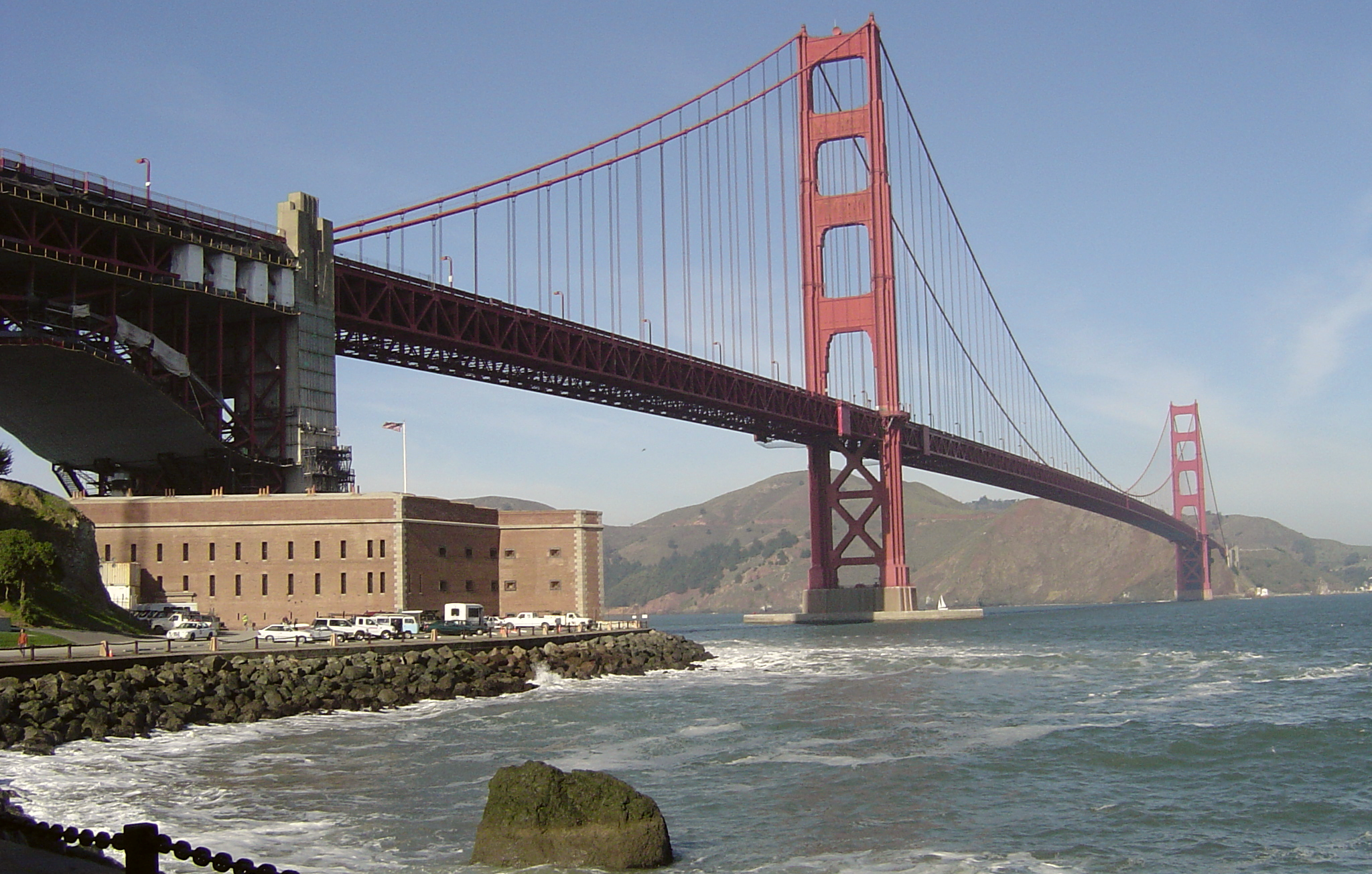 Fort Point affords amazing close-up views of the Golden Gate Bridge.