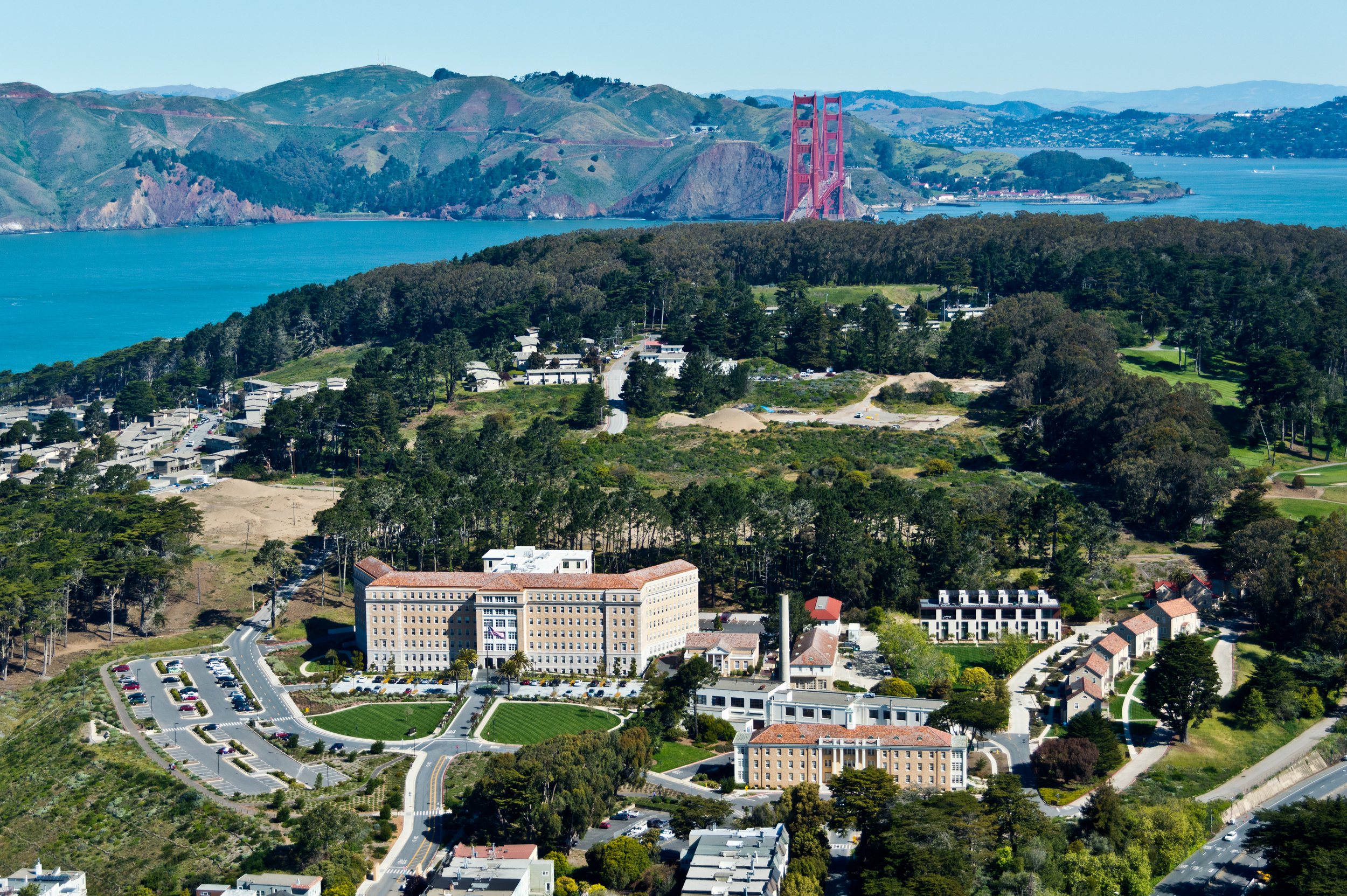 A former military base, the Presidio offers miles of wooded areas, hills and scenic vistas—as well as several restaurants and museums, a YMCA, pool and even a bowling alley. The area was recognized as a California Historical Landmark in 1933 and as a National Historic Landmark in 1962.