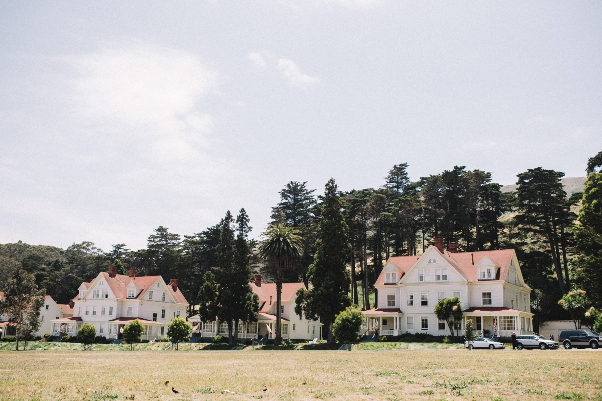 A former military base, the Presidio offers miles of wooded areas, hills and scenic vistas—as well as several restaurants and museums, a YMCA and even a bowling alley.