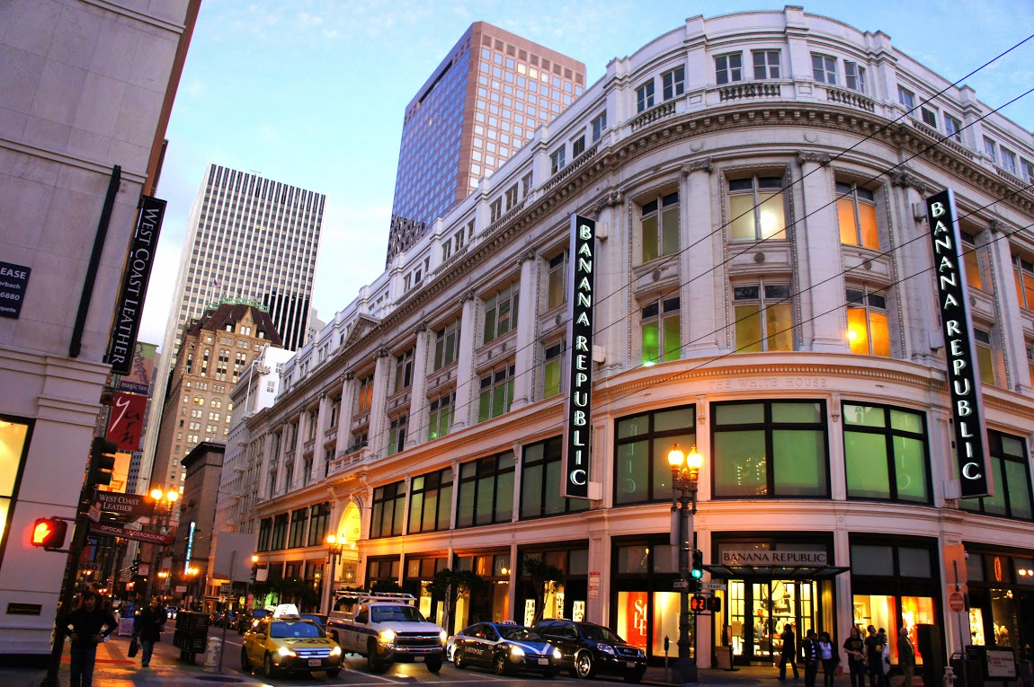 The Banana Republic store on Sutter Street is the company's flagship.