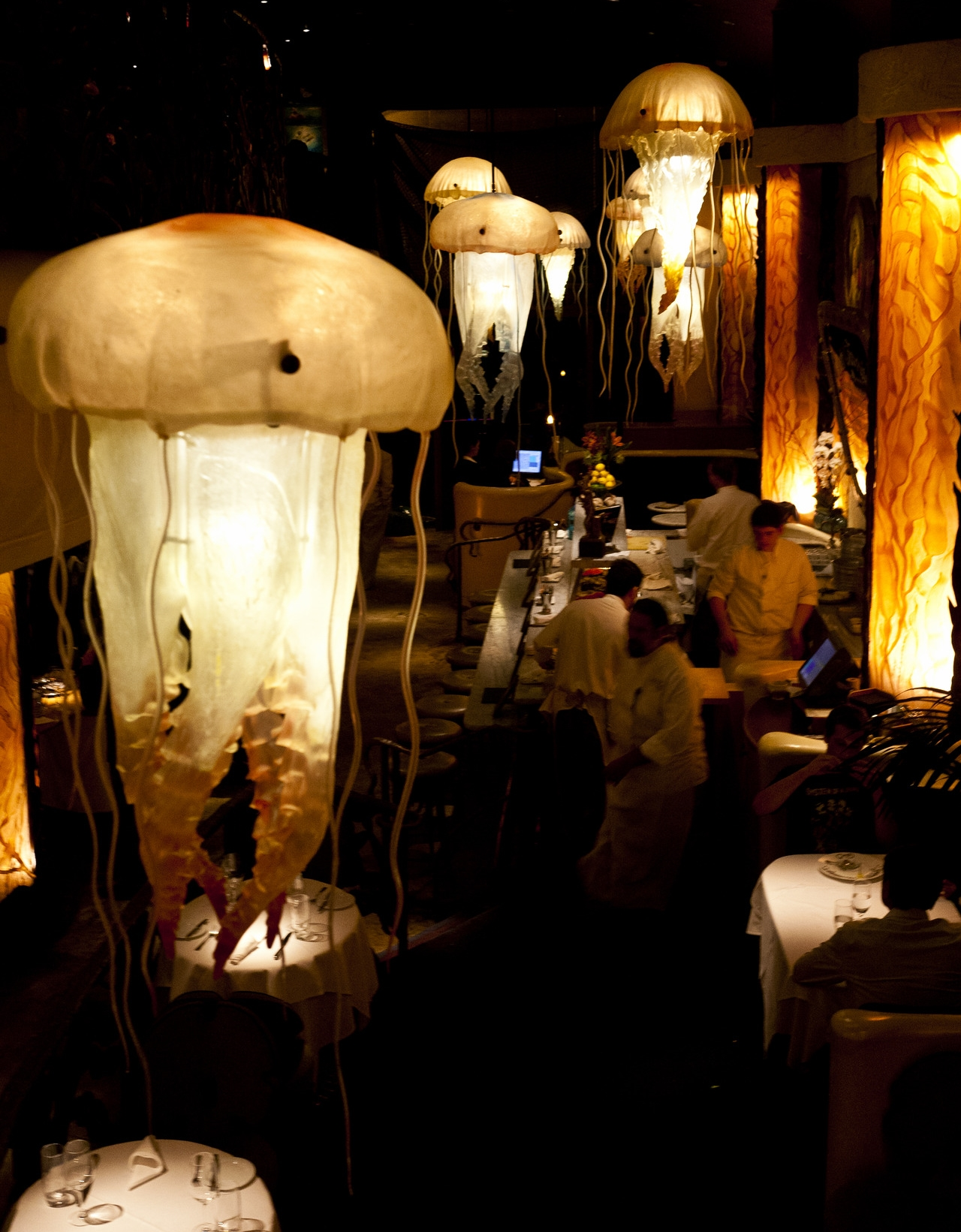 Farallon, an upscale eatery with a raw bar and an undersea-themed décor, is one of many wonderful restaurants in Union Square.
