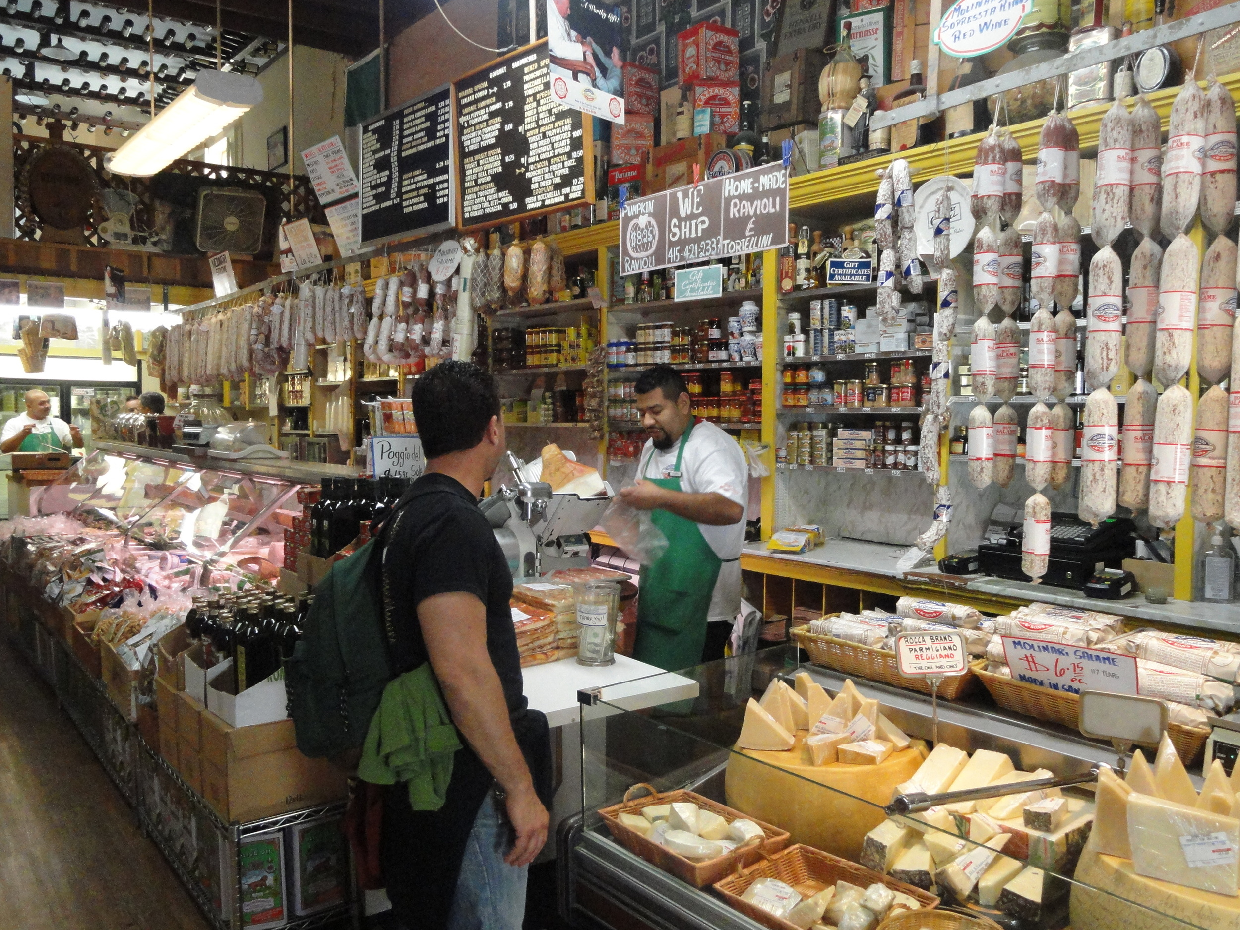 Molinari Delicatessen is an old-school Italian deli offering artisanal meats, cheeses and breads.