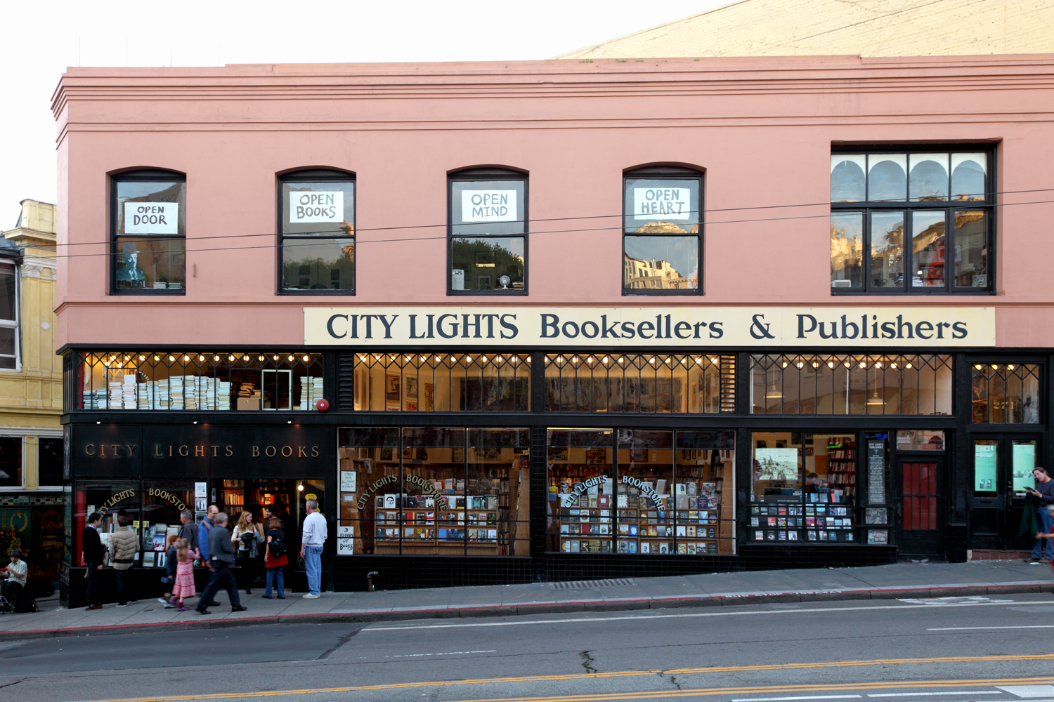 Lawrence Ferlinghetti's City Lights Bookstore opened in 1953 and still has one of the best collections of poetry, fine art tomes, and political rags in the city.