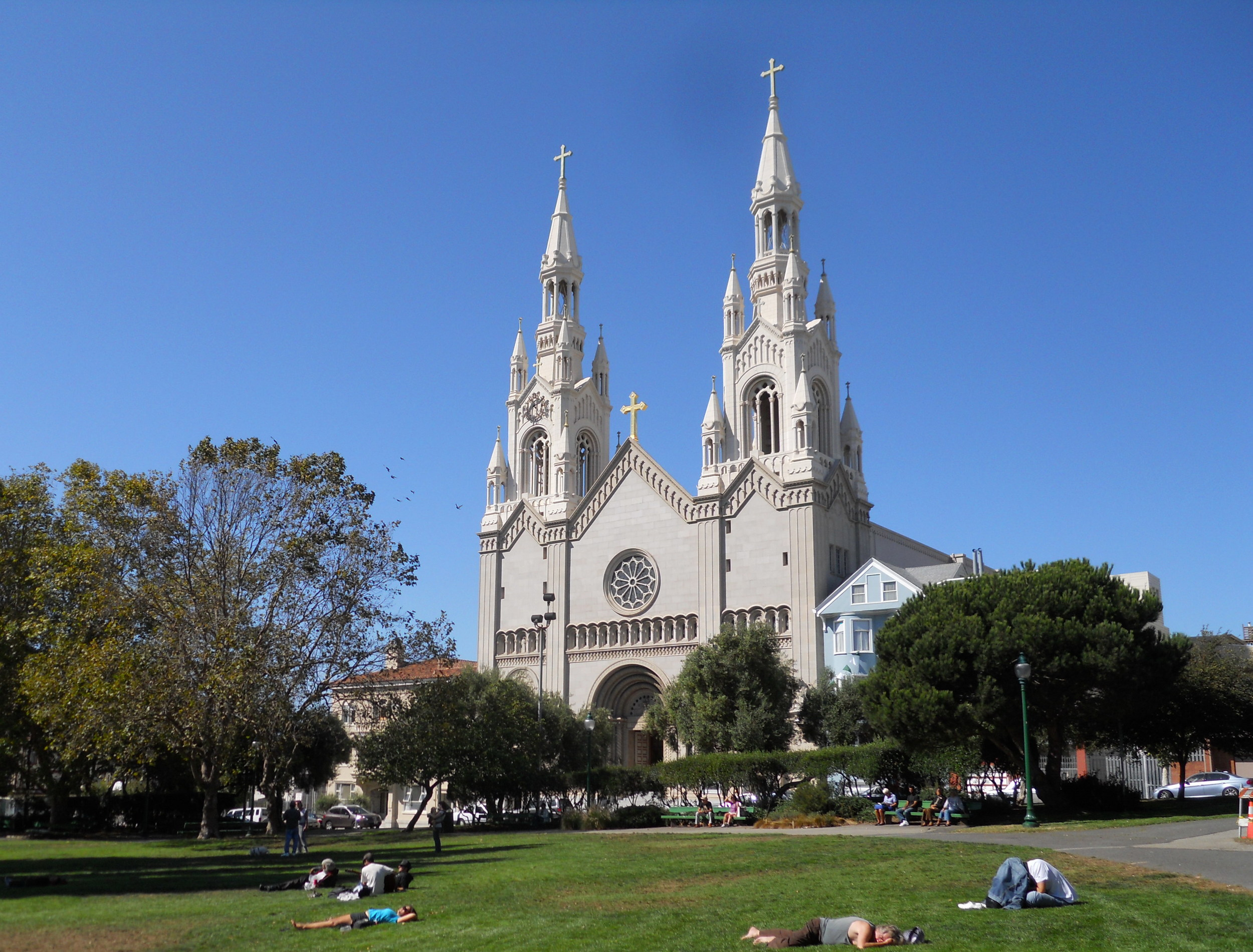 """Saints Peter & Paul Church is known as """"la cattedrale d'Italia ovest,"""" or """"the Italian Cathedral of the West,"""" serving as the home church and cultural center for San Francisco's Italian-American community since its consecration."""