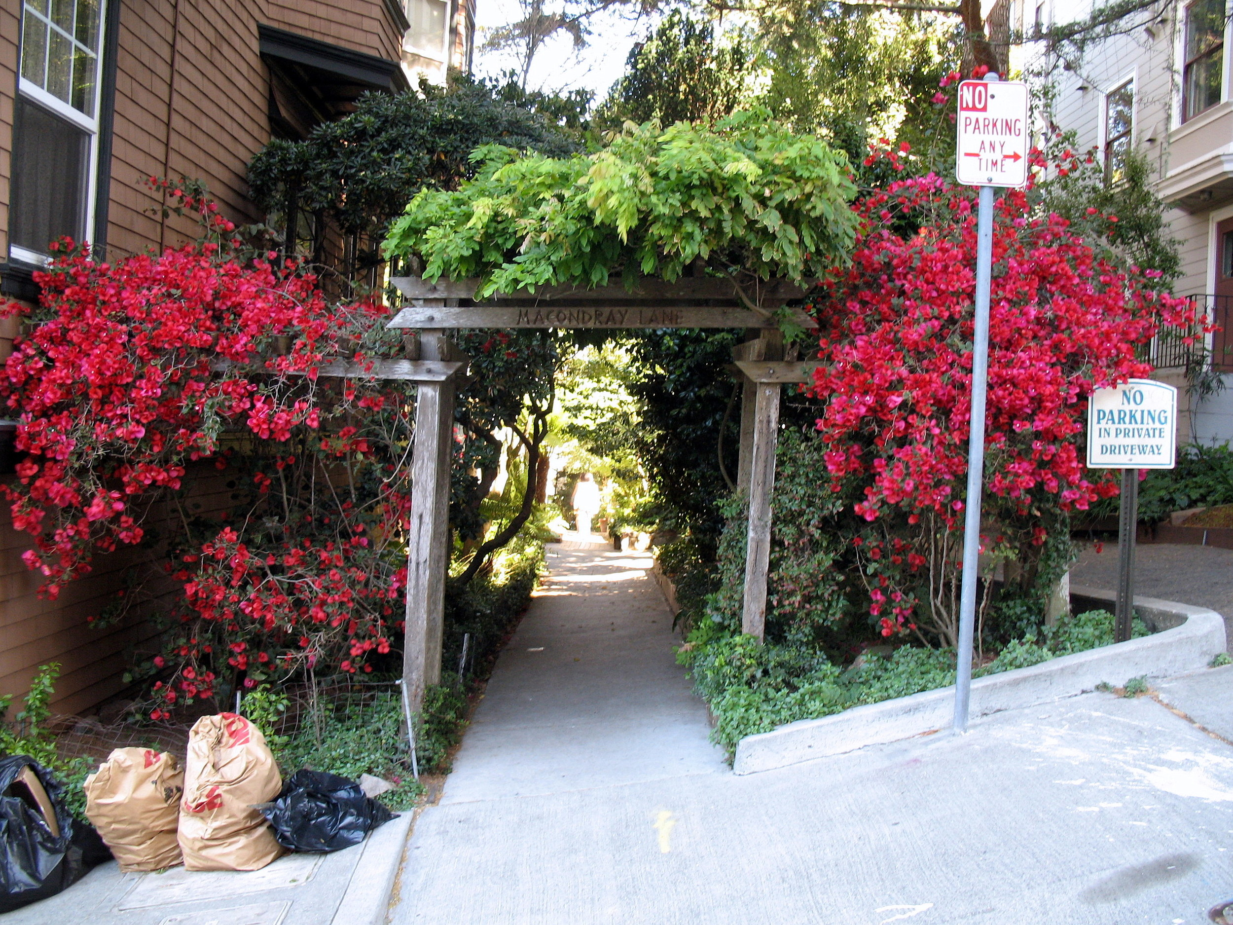 Macondray Lane is famous for inspiring Armistead Maupin's fictional 28 Barbary Lane boarding house in  Tales of the City .