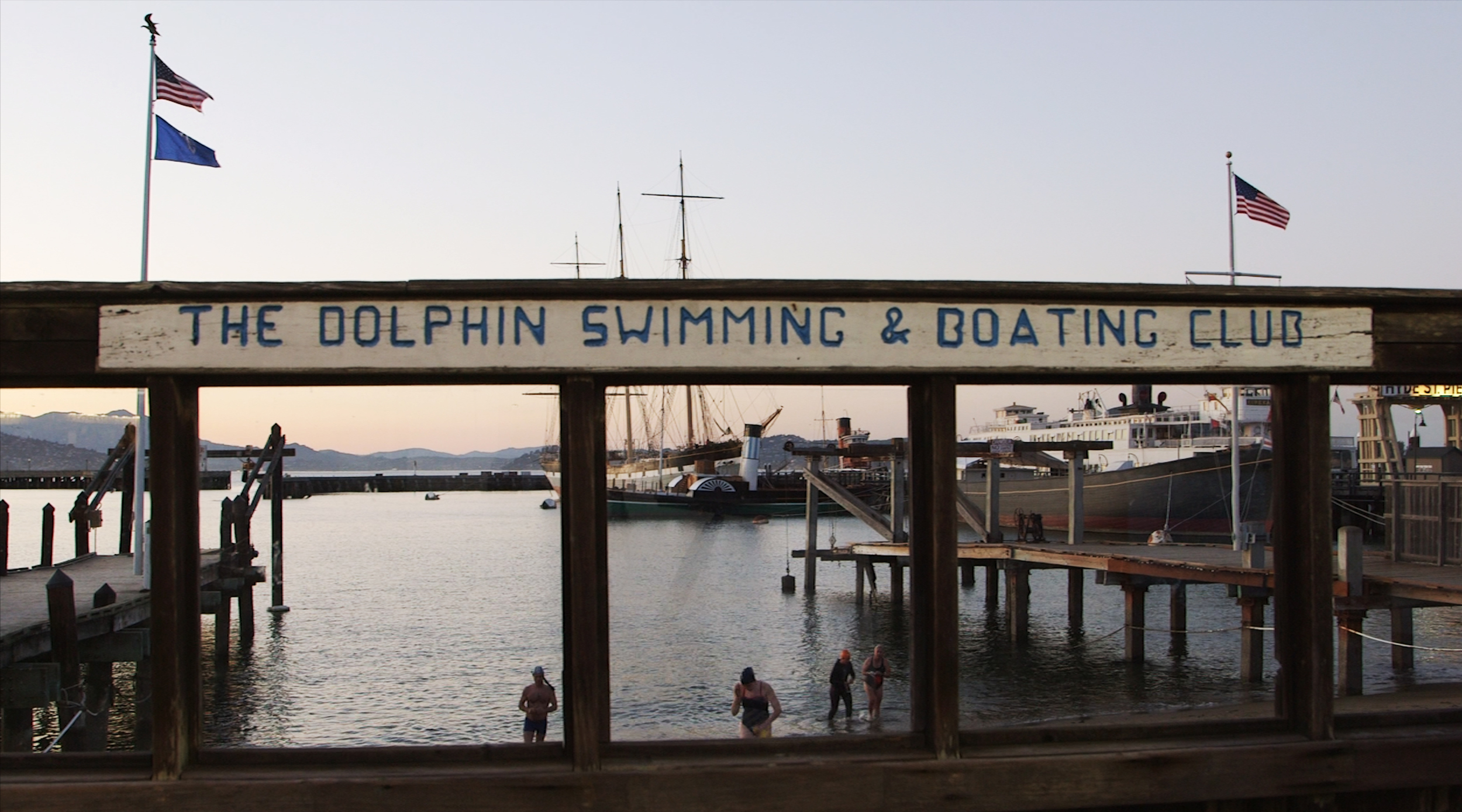 Founded in 1877, the Dolphin Club is a public-access organization whose members swim in the waters of Aquatic Park, row in the Bay and on Lake Merced, play in handball tournaments and participate in the annual Escape from Alcatraz triathlon.