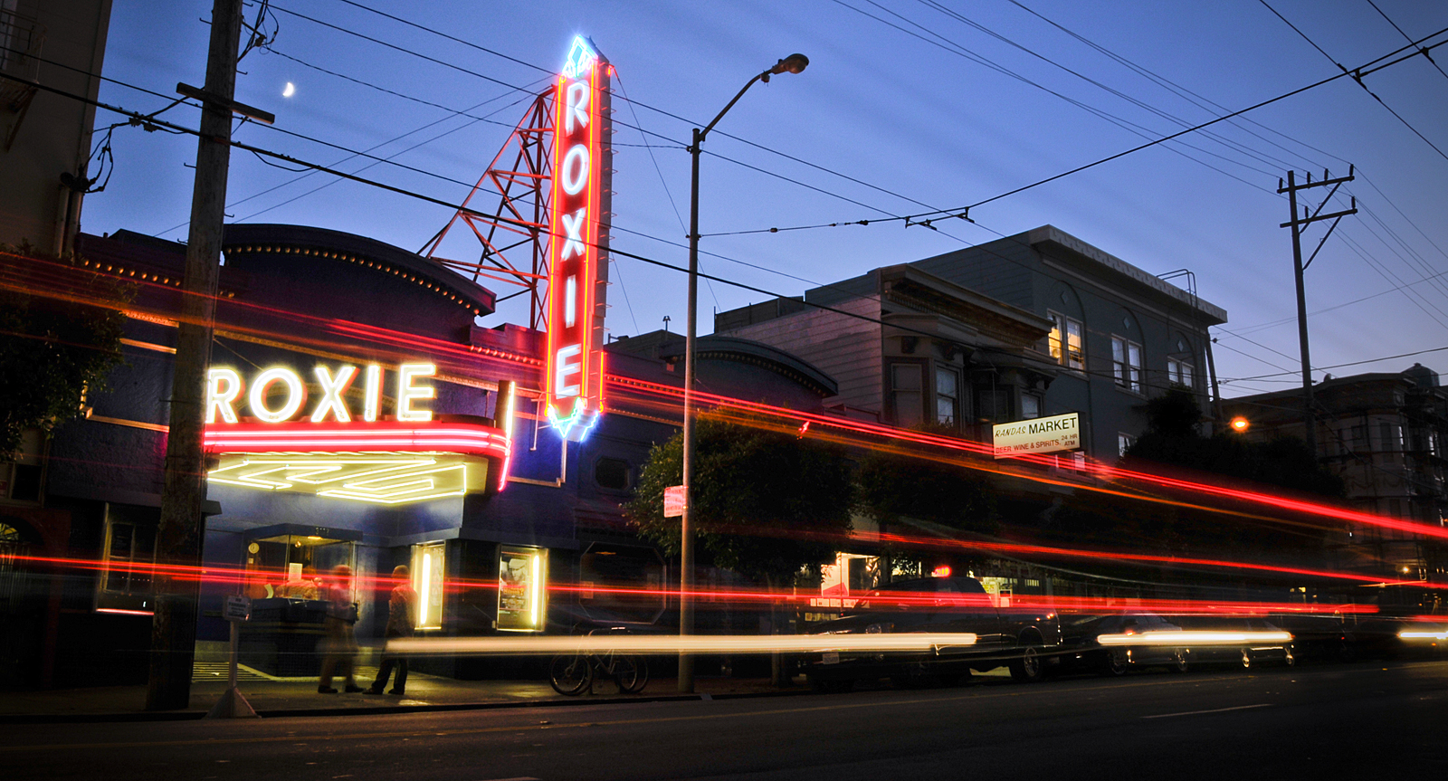 The landmark Roxie Theater is a non-profit cinema that screens obscure indie movies and hosts film-related special events.