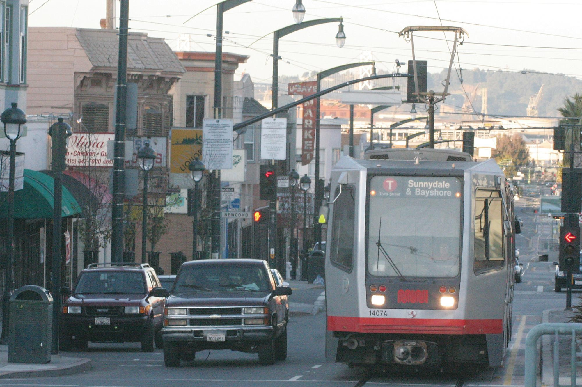 The first true light-rail line in the mostly streetcar MUNI system, the T-Third Street runs through Mission Bay and connects to the existing MUNI network along the southern Embarcadero and below Market Street.