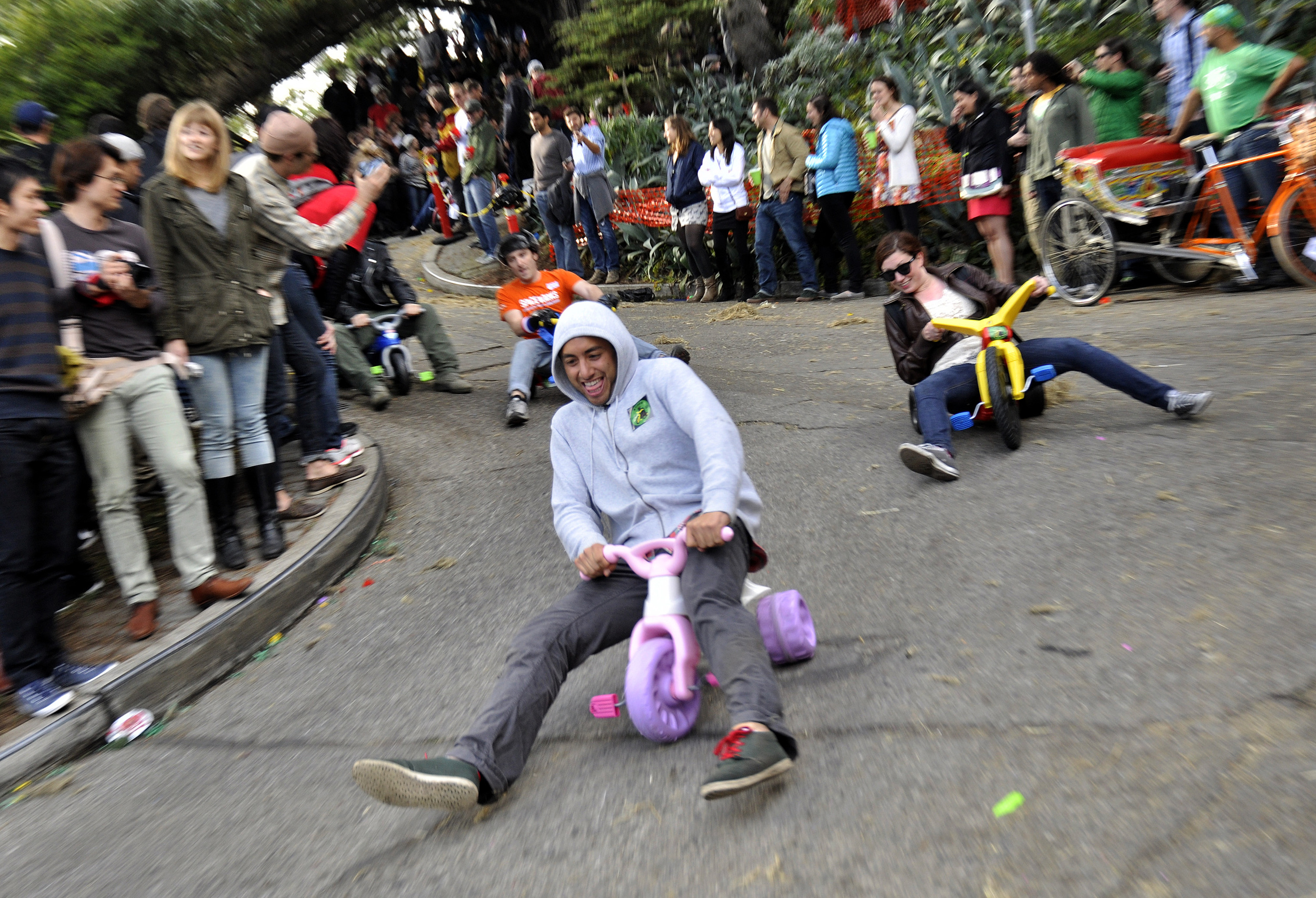 """The annual Big Wheel race down Vermont Street (the city's """"real"""" crookedest street—move over, Lombard) is a highly anticipated neighborhood event."""