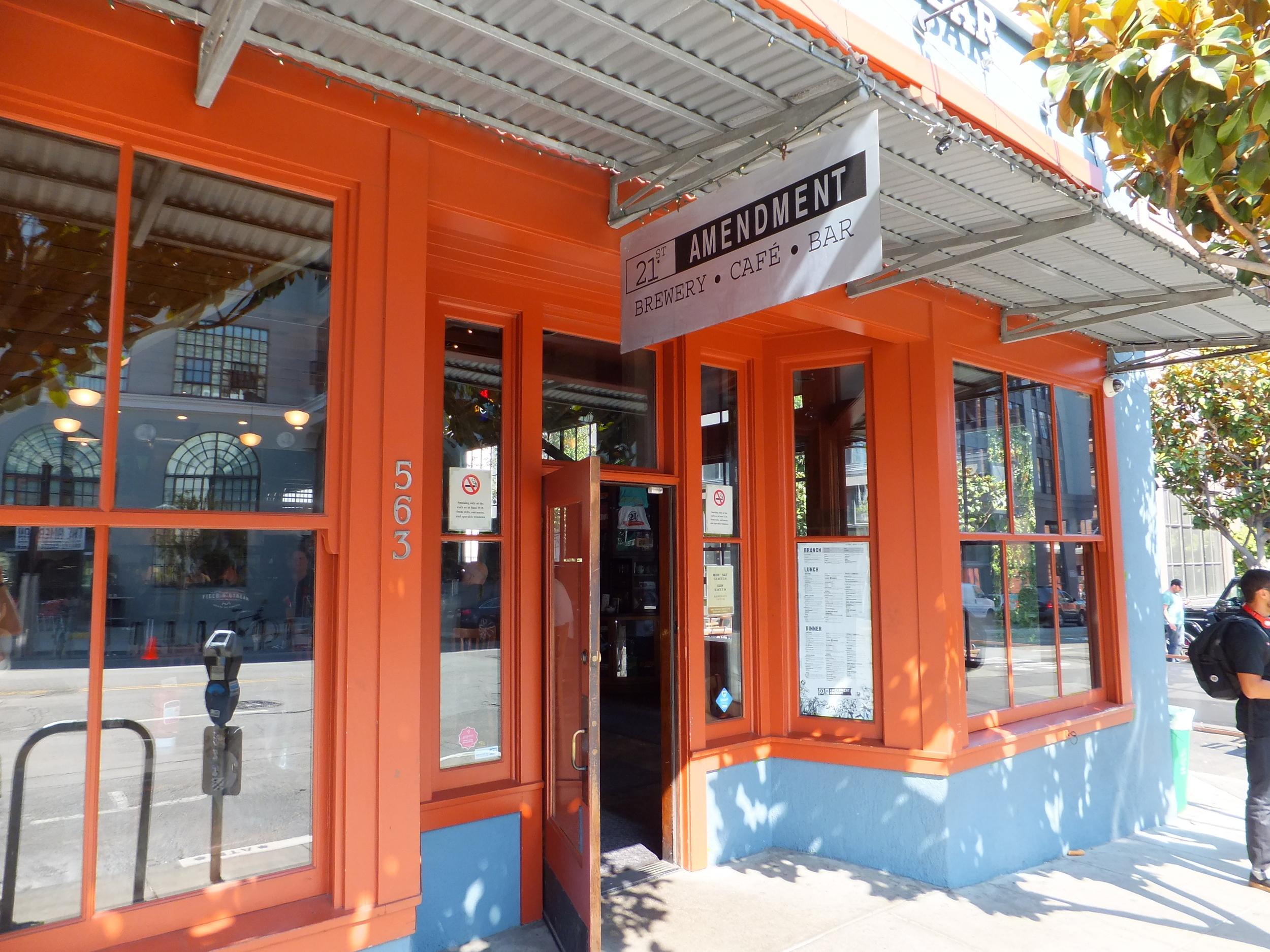 21st Amendment Brewery is a fun neighborhood pub that's open seven days a week.
