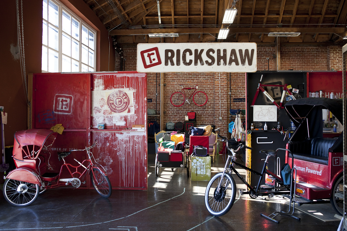 Hip local boutiques are popping up throughout Dogpatch. Rickshaw Bagworks produces and sells colorful, sturdy messenger bags.