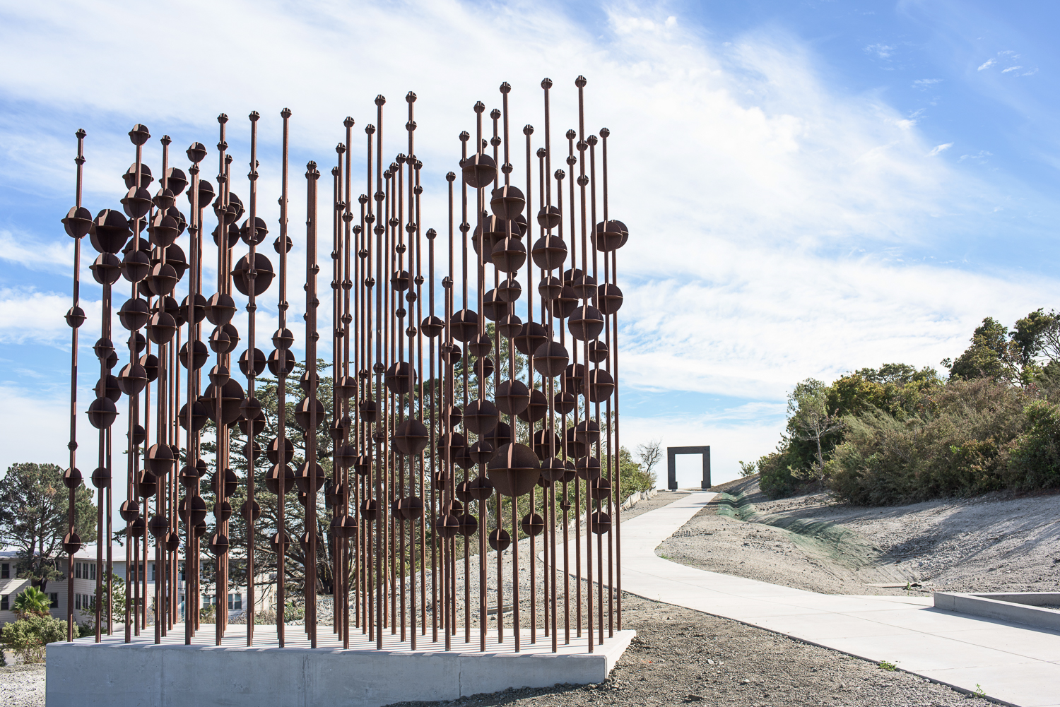 The Hunters Point Shipyard Artists is a community of artists who rent studios in the former shipyard on Hunters Point and host biannual art shows.