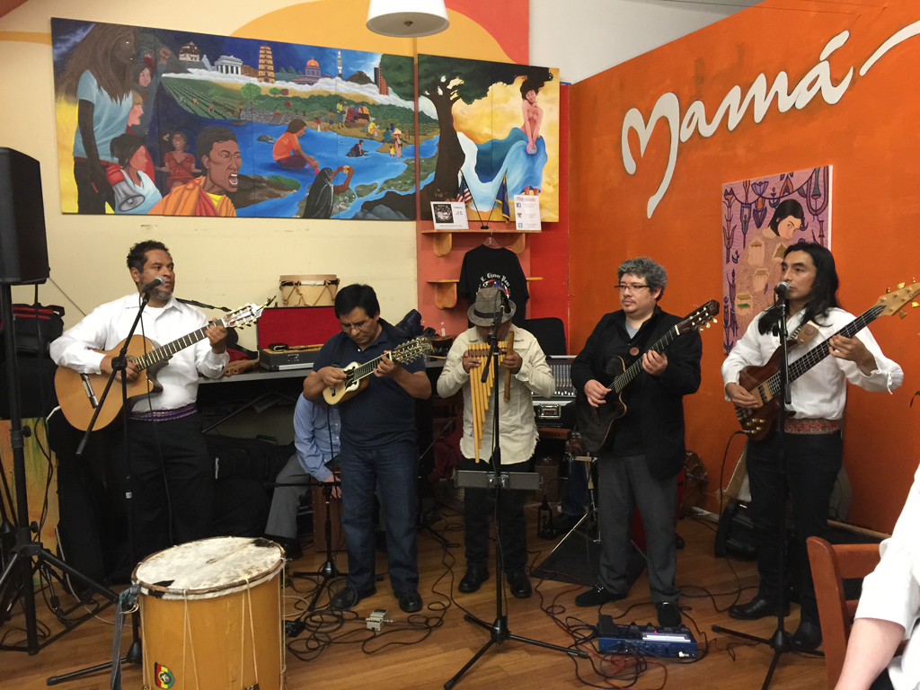 Mama Art Café is a colorful eatery that pours organic, fair-trade coffee and homemade soup, and hosts live music and art exhibits.