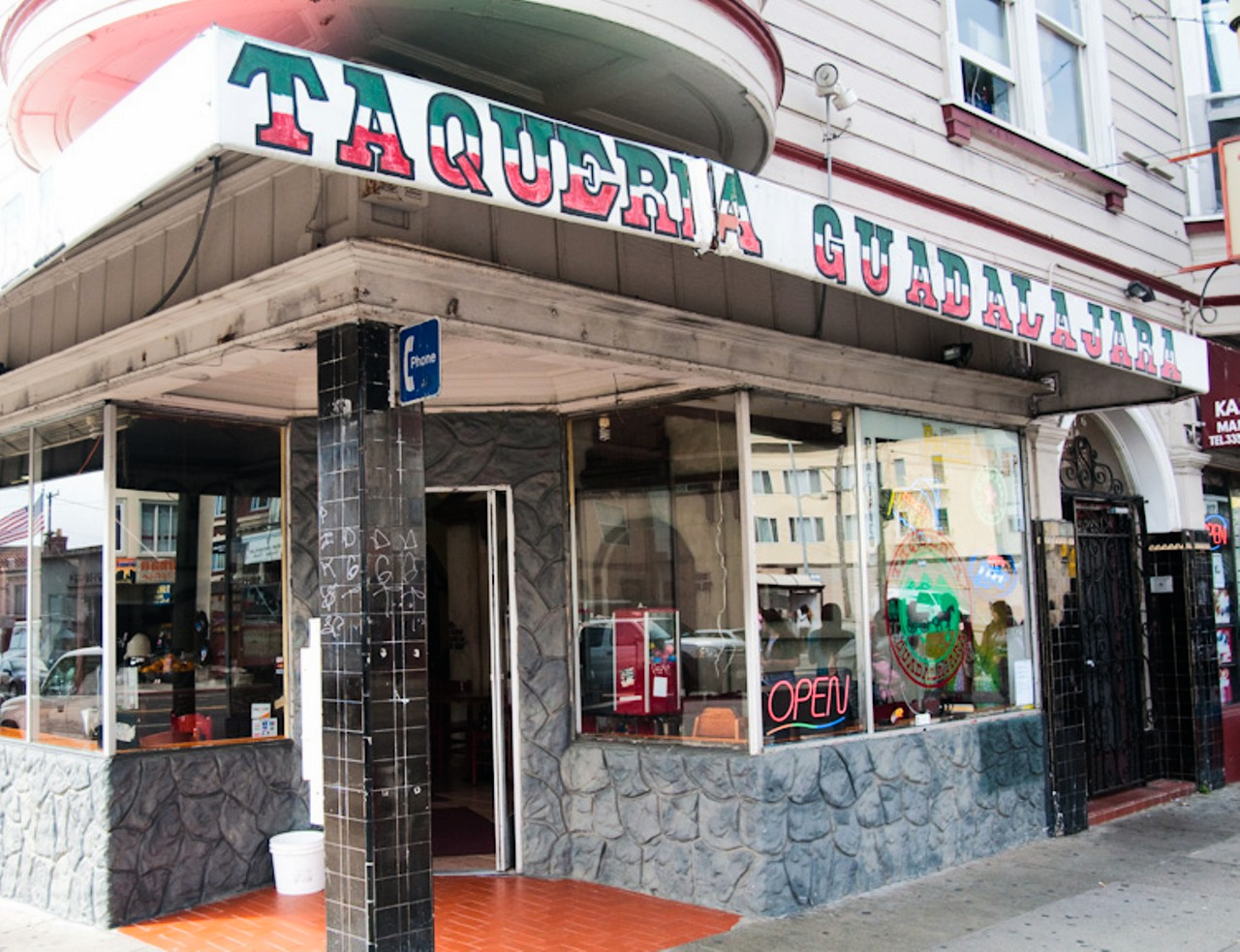 Taqueria Guadalajara is a popular neighborhood joint known for its burritos.