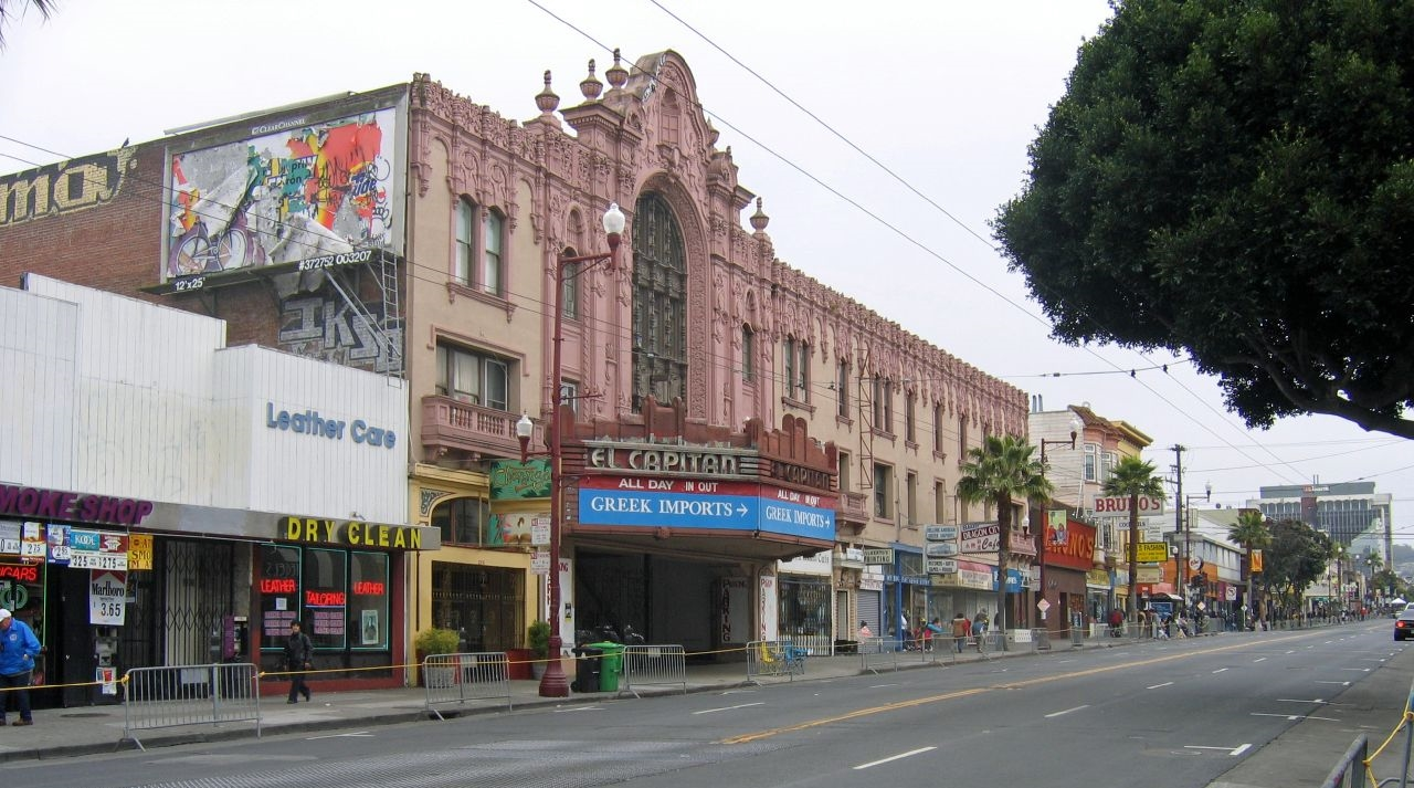 Mission Street is lined with a diverse range of shops, restaurants, and nightlife.