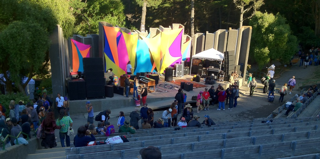 Located within John McLaren Park, the Greek-style Jerry Garcia Amphitheater is named after Grateful Dead member Jerry Garcia and known for its outstanding acoustics.
