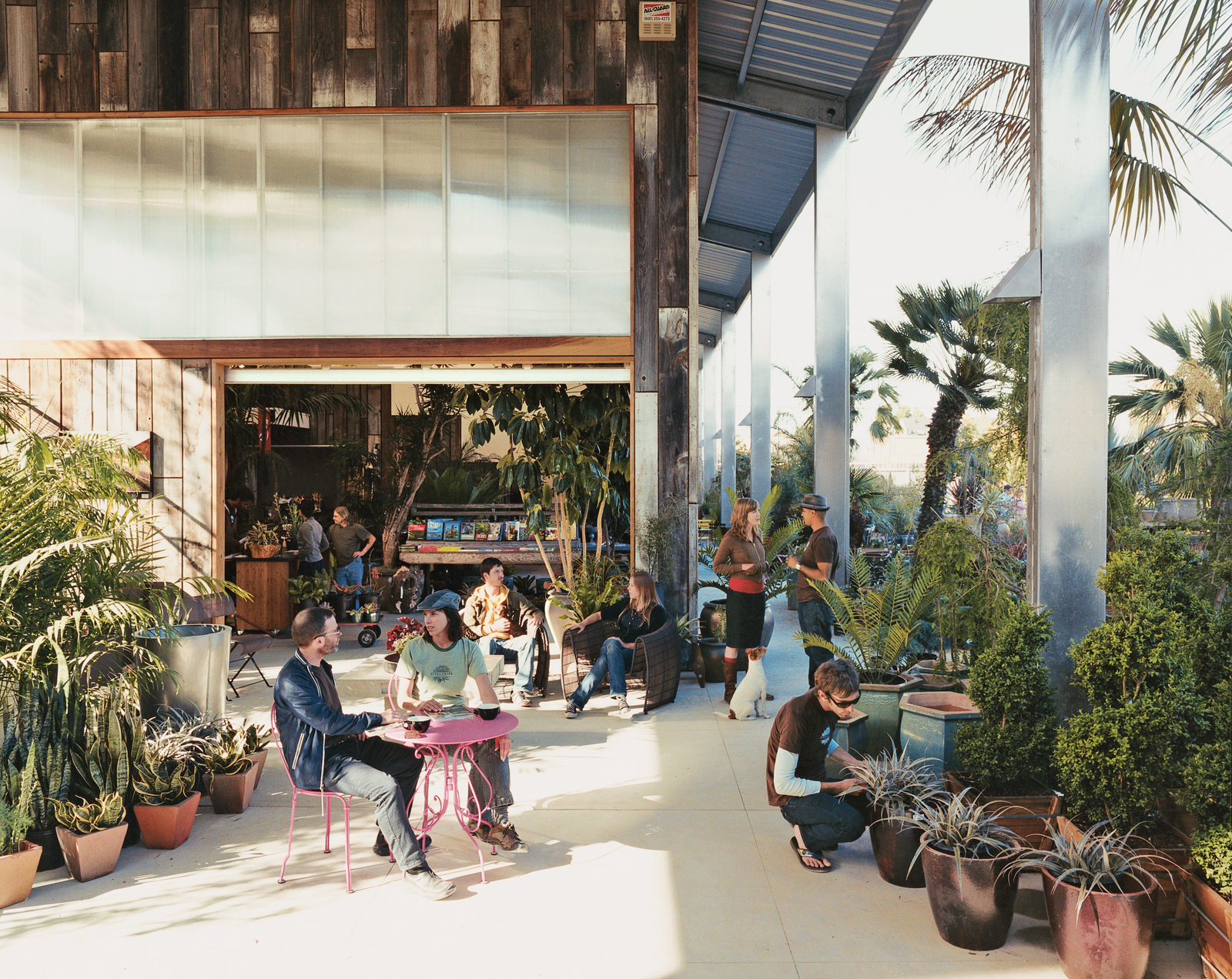 Flora Grubb Gardens is an open-air gardening center offers unique plants, garden decor and an espresso bar.