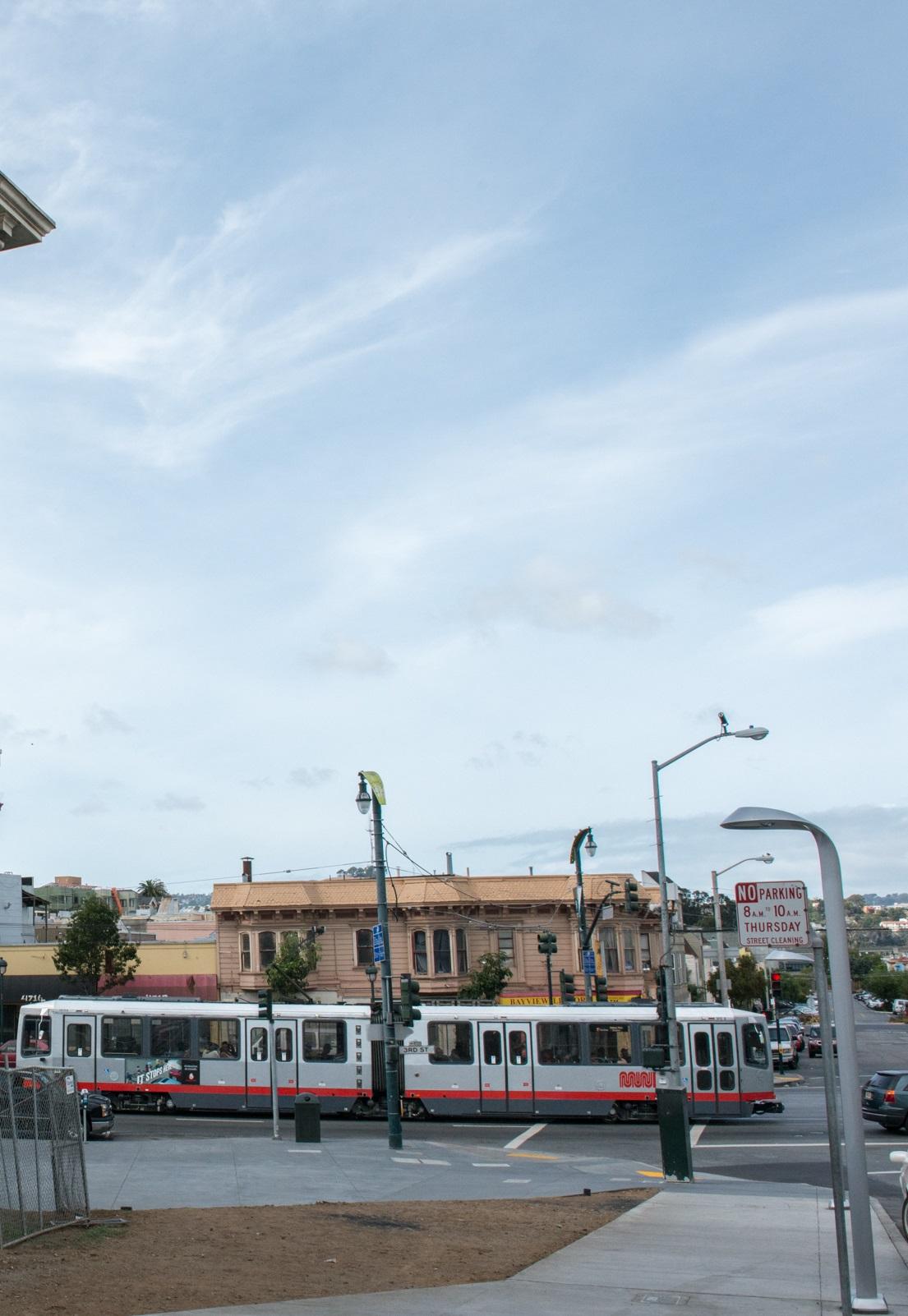 The T-Third Street MUNI light-rail runs nearby.
