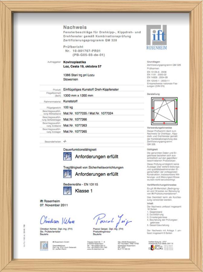 Сертификат IFT, Германия