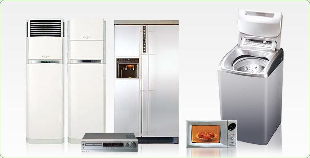 - Refrigerator   - Washer   - Microwave oven   - Air conditioner