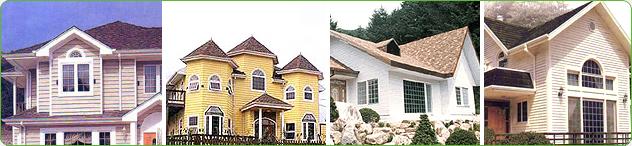 - Exterior materials for construction - Siding panels - Garage doors, etc.