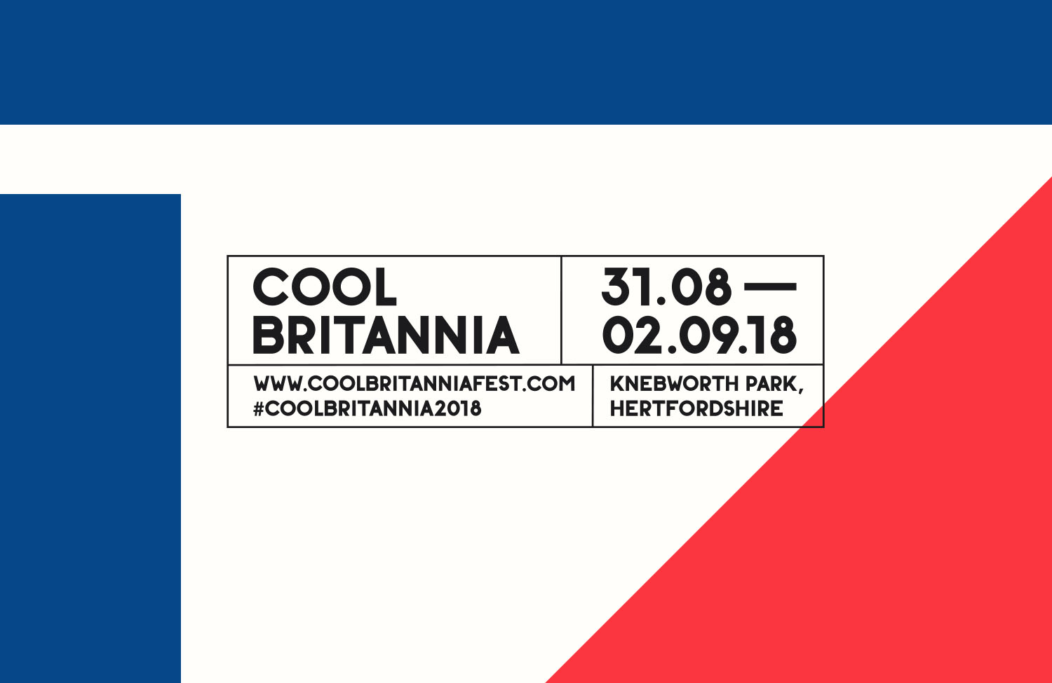Cool Britiannia Festival - Branding | Digital | Art Direction