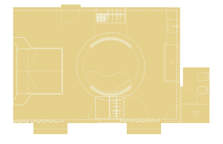 Cylinder Guest Room-plan