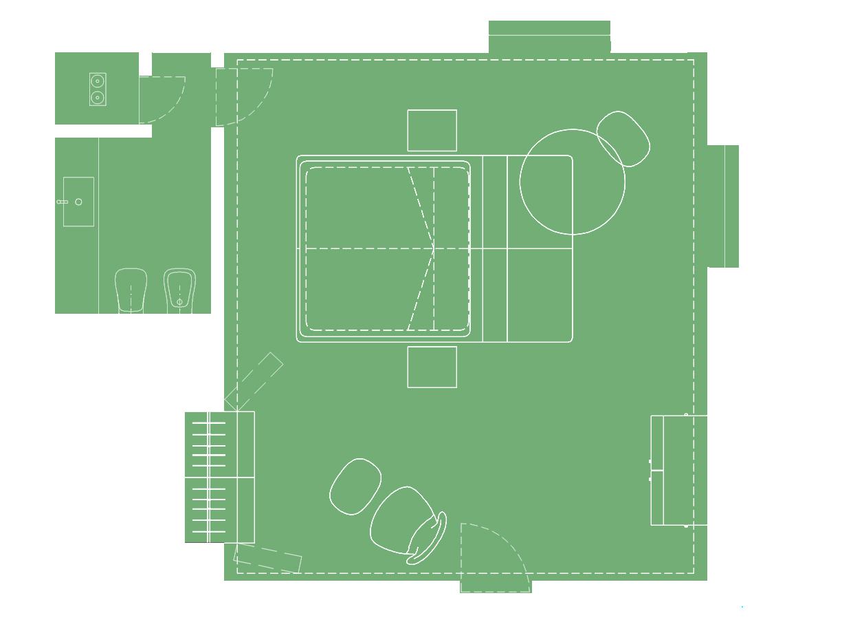 Island Guest Room-plan
