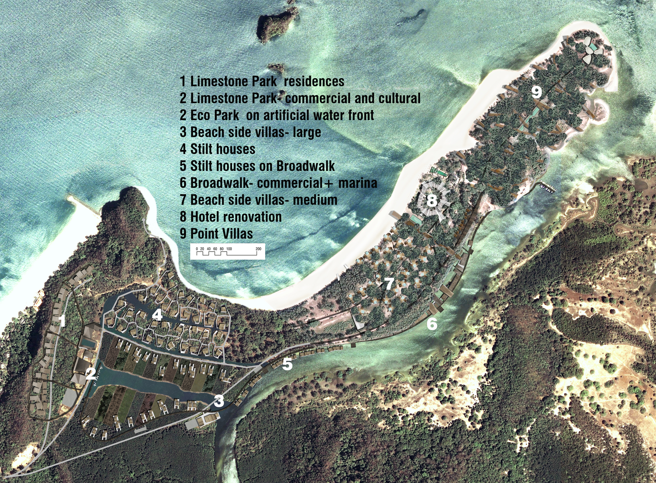 Masterplan from Limestone Village to the Point