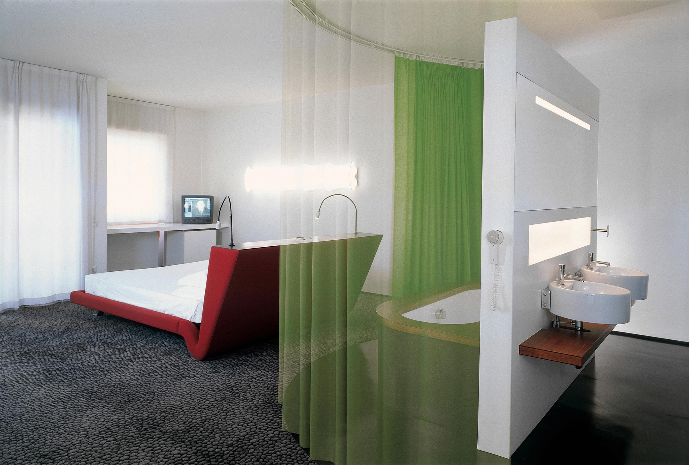 junior suite with open bathroom