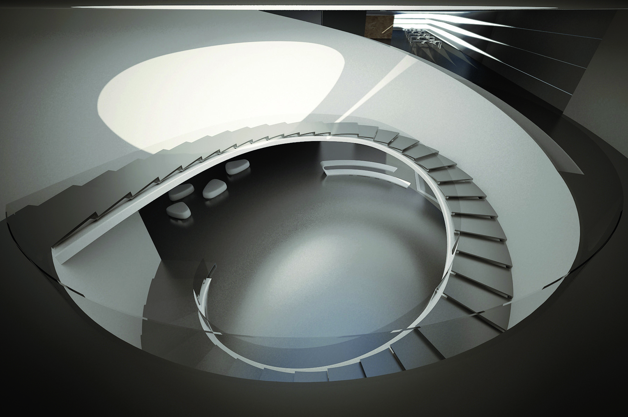 interior view- stair well