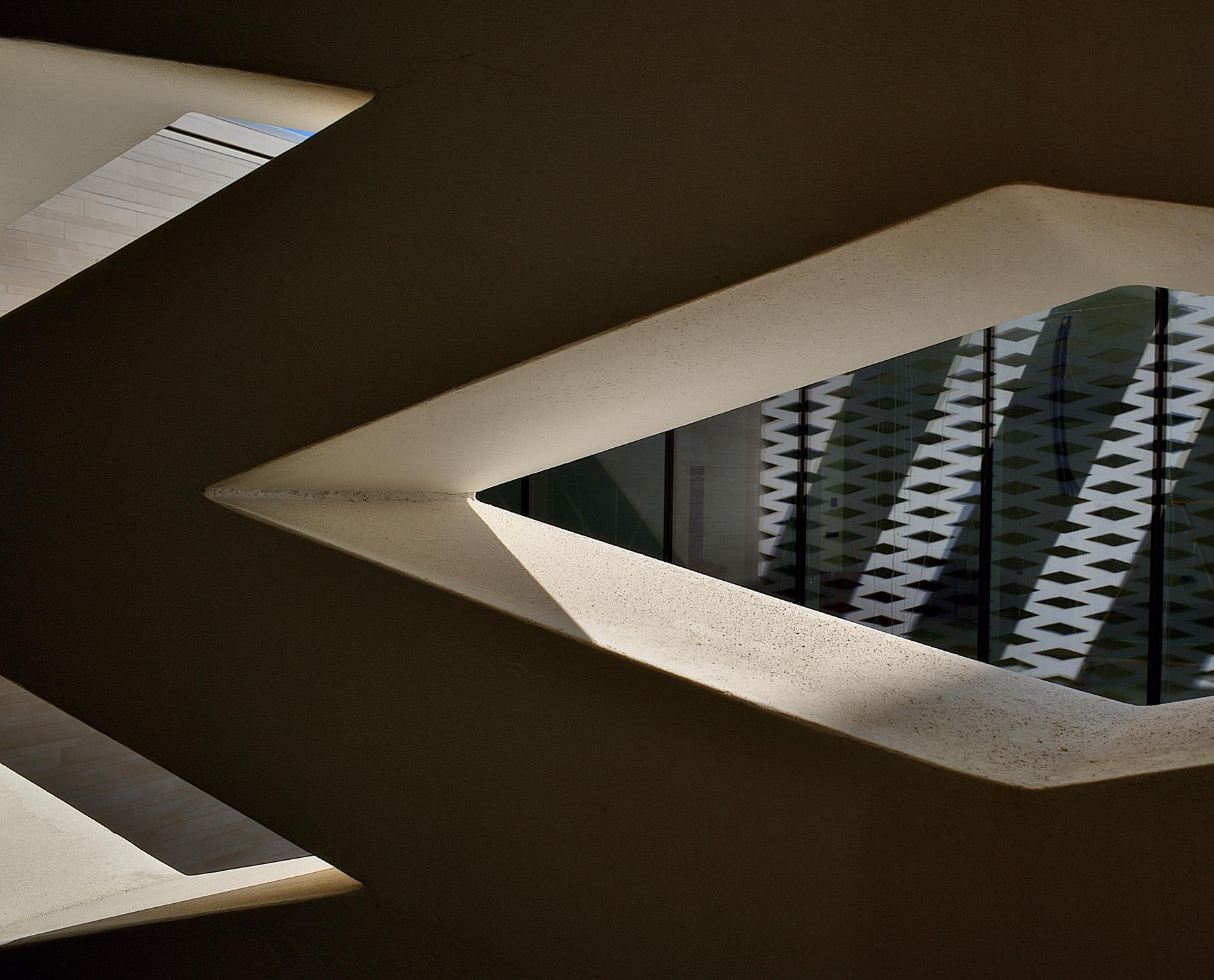 Building site- interior trellis facade detail