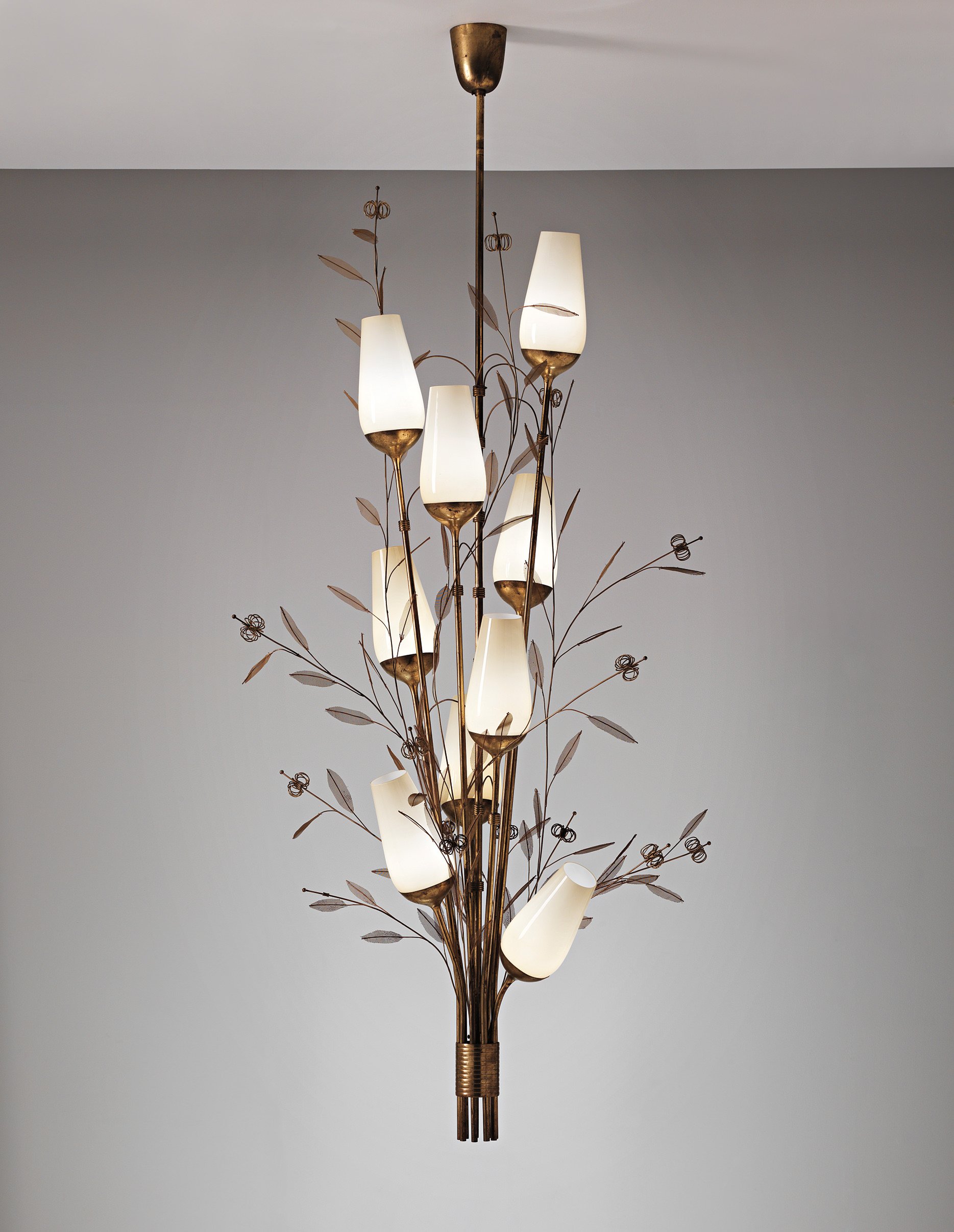 Paavo Tynell, (1890-1973) Large Ceiling Light,  c.1940 - Philips