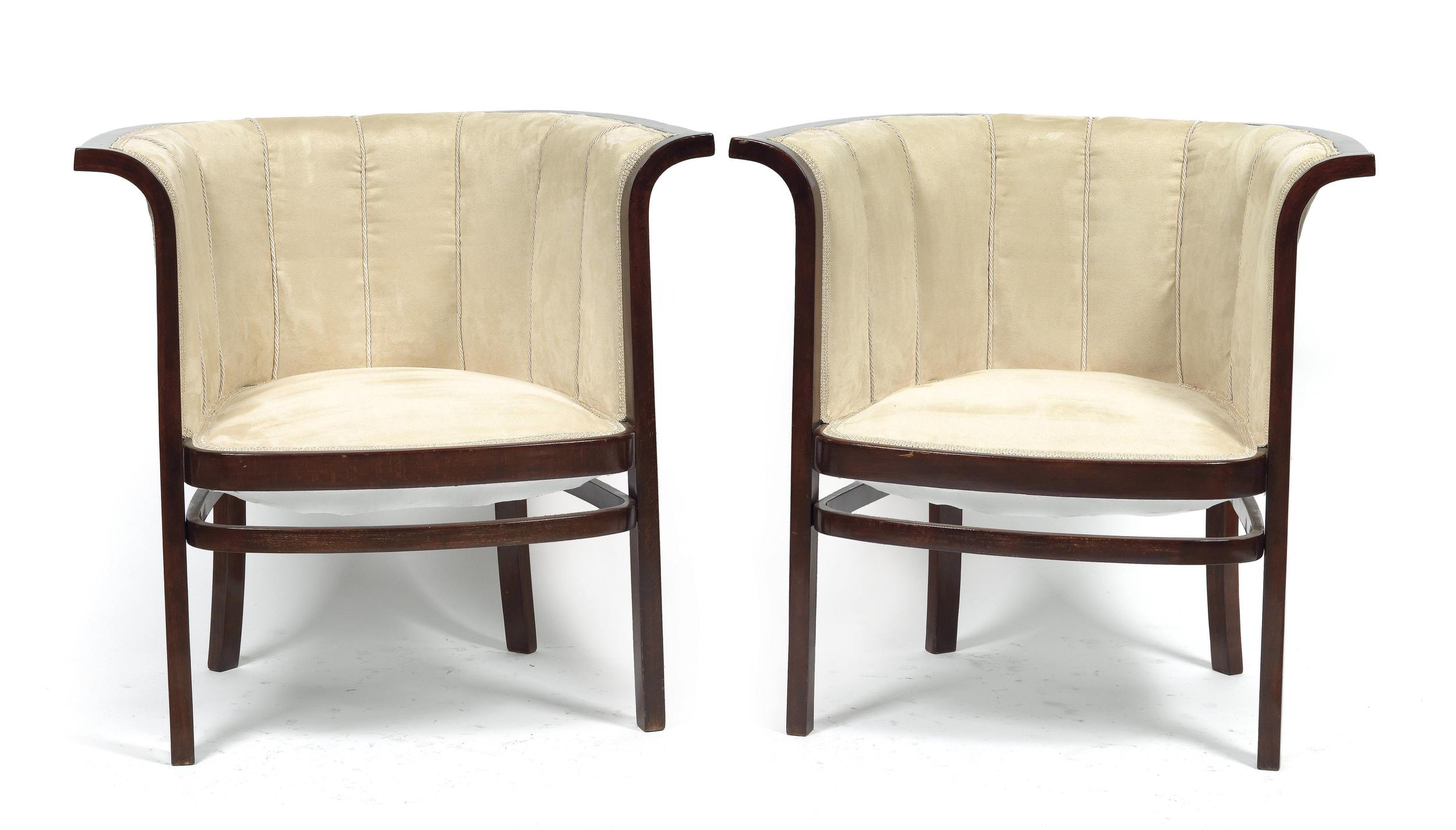 Marcel Kammerer (1878-1959) Pair of Chairs from Drawing Room Suite, c. 1910 Dorotheum Vienna