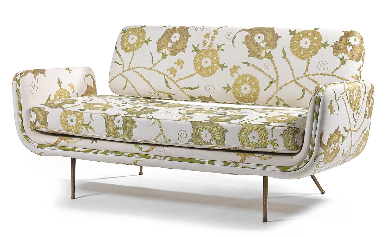 Alexander Girard, (1907-1993) & Herman Miller, A Basket Work and lacquered Metal Sofa, c.1968, Tajan Paris