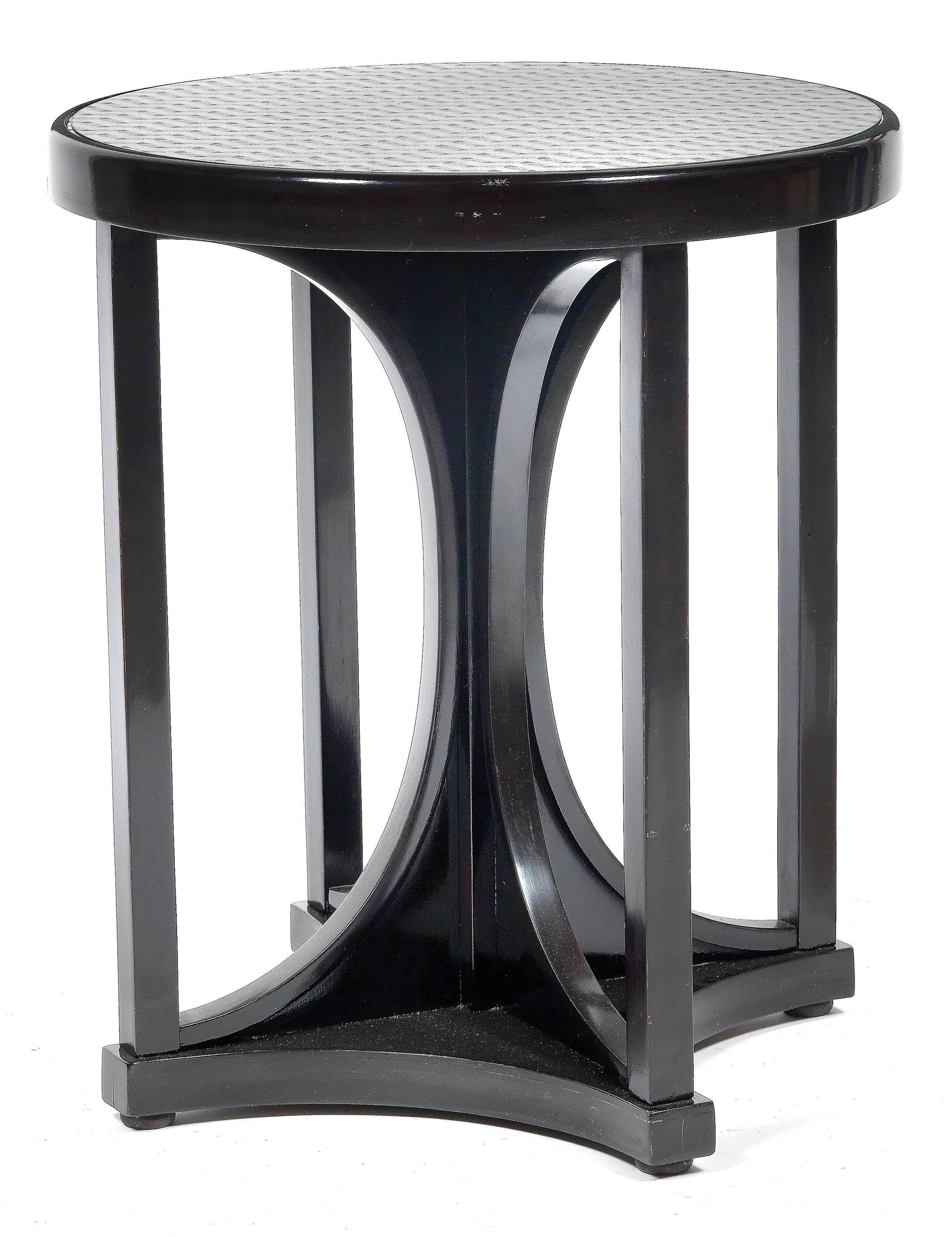 Josef Hoffmann (1870-1956) An Ebonised Occasional Table, designed, c.1910, Dorotheum Vienna