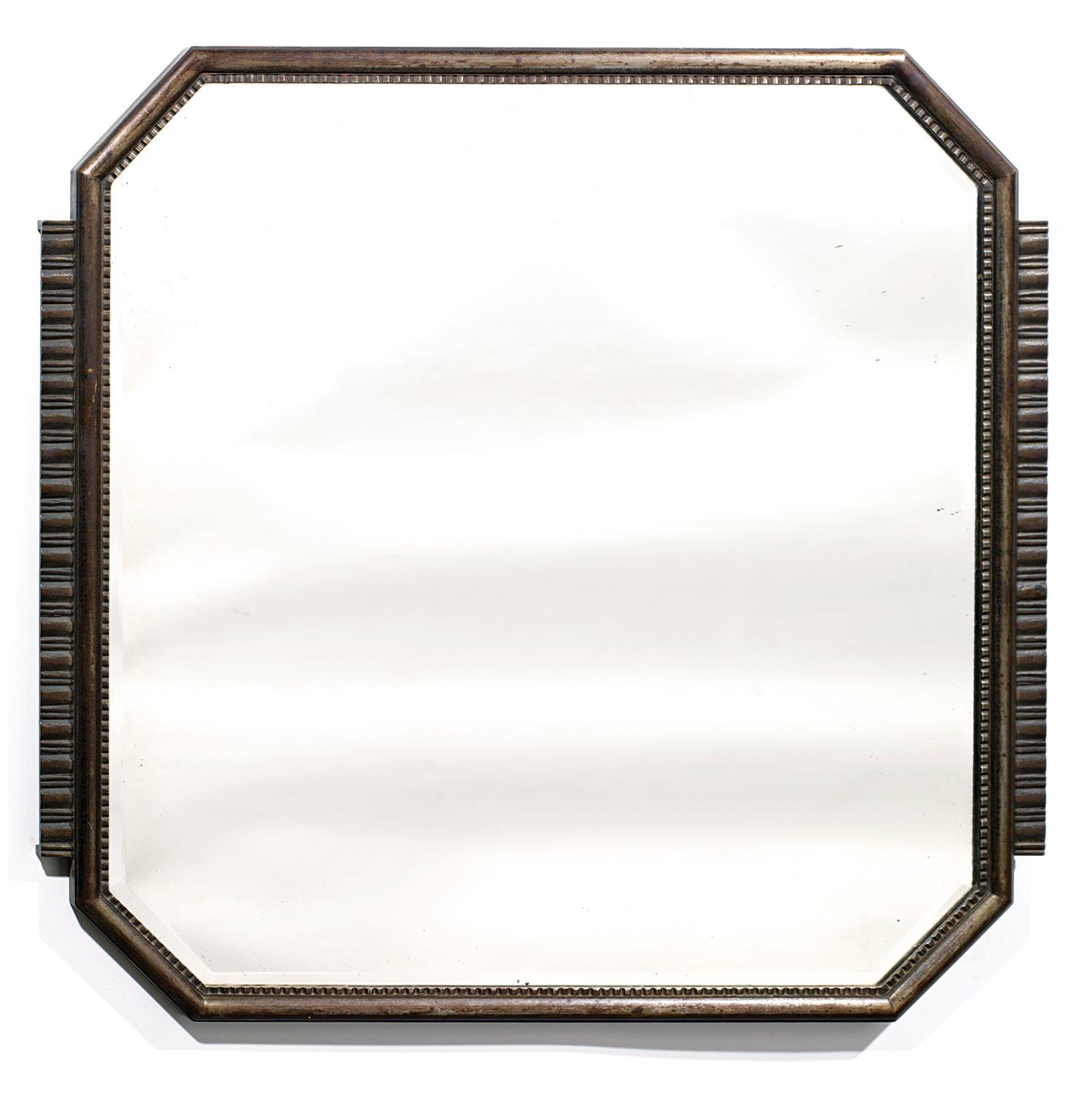 Edgar Brandt (1880-1960) Wrought Iron Art Deco Mirror, Tajan Paris