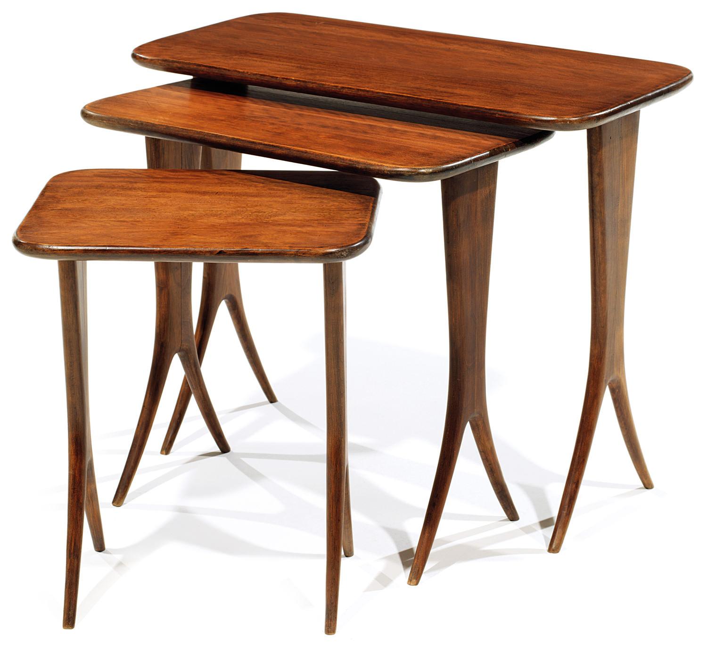 Rapheal Raffel DIT (1912-2000) Nest of three tables, Tajan Paris