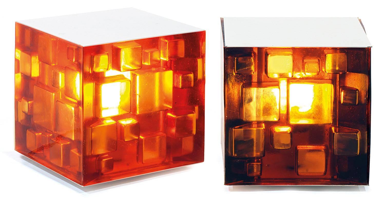 Marco Ziliani & Fish Design, Cuboluce cubic lamps, Tajan Paris