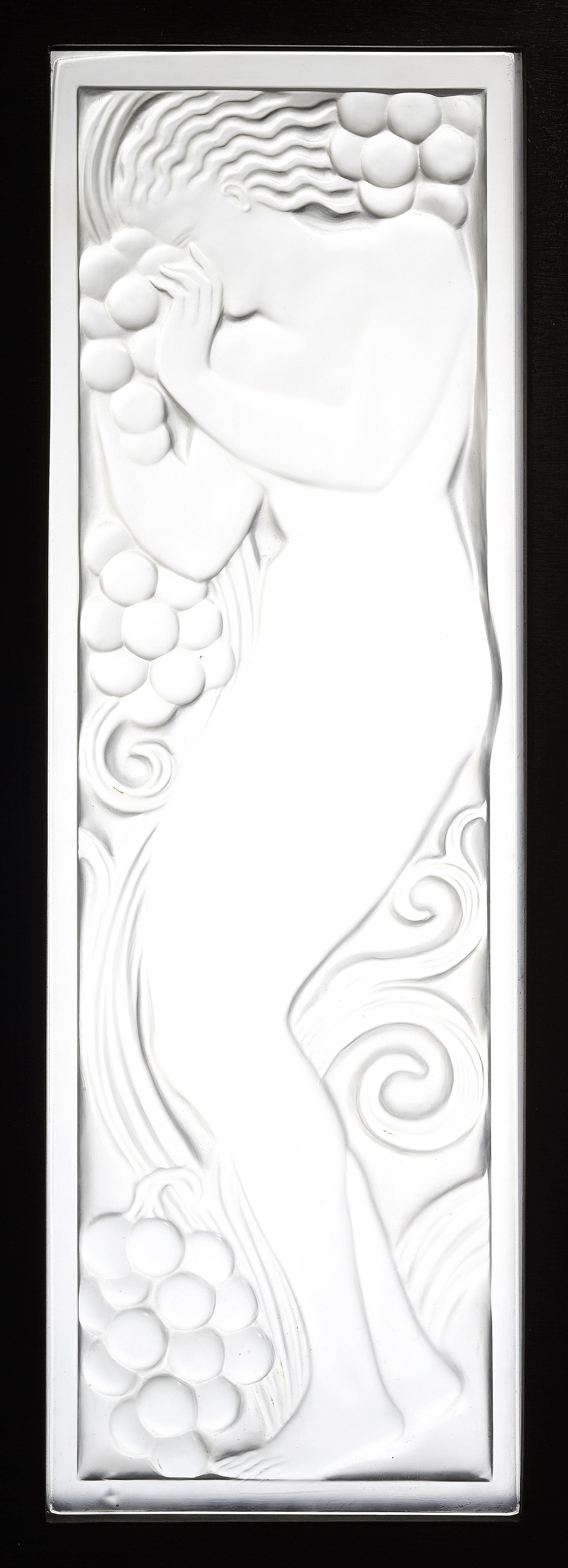 Rene Lalique Glass Panel Artcurial Paris