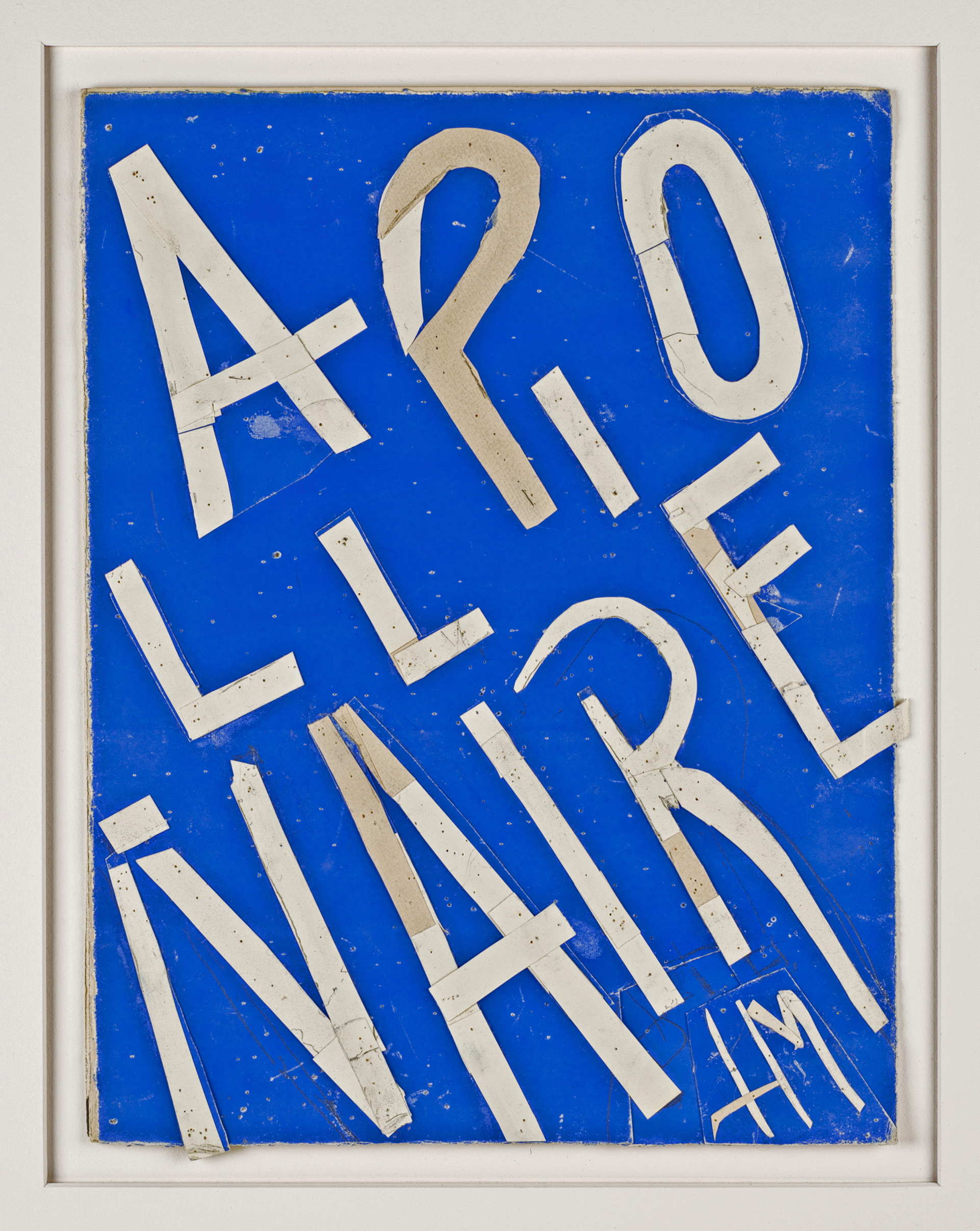 Henri Matisse (1869 - 1954)     Maquette for the cover of the slipcase of the book 'Apollinaire' by André Rouveyre    Gouache on paper, cut and pasted, 1951-52     Exhibited   'Henri Matisse: The Cut-Outs', Tate Modern, London, 17 April- 7 September 2014, illustrated p 191.  'Henri Matisse: The Cut-Outs', Museum of Modern Art, New York, 12 October 2014 - 10 February 2015.